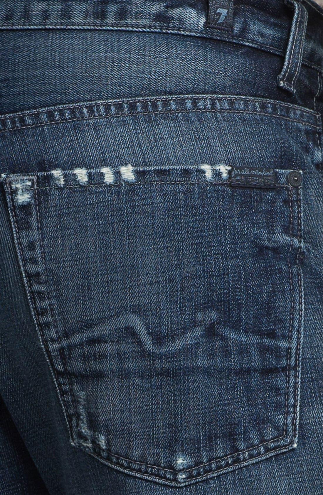 Alternate Image 4  - 7 For All Mankind® 'Austyn' Relaxed Straight Leg Jeans (Kool Nite)