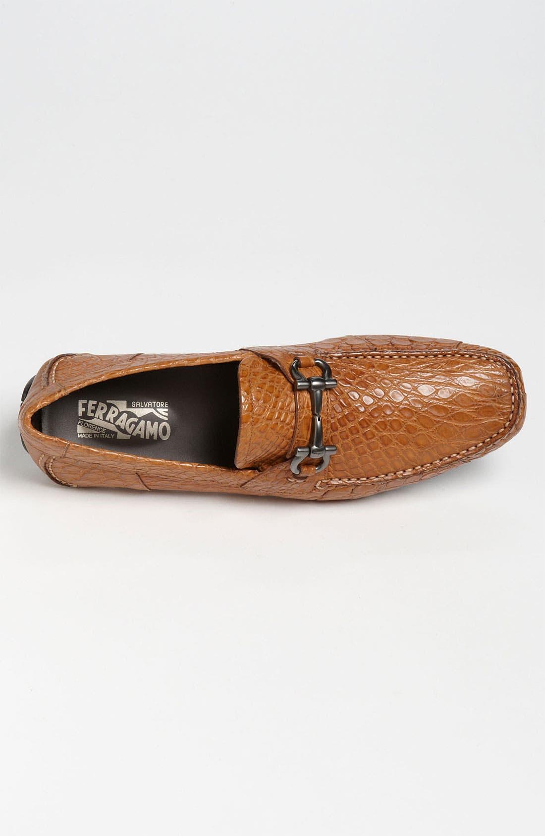 Alternate Image 3  - Salvatore Ferragamo 'Parigi' Crocodile Driving Shoe