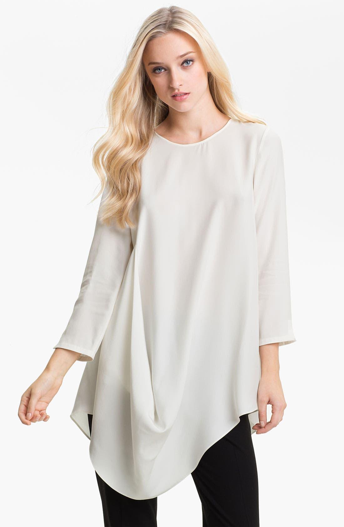 Main Image - Lafayette 148 New York 'Barrymore' Silk Tunic