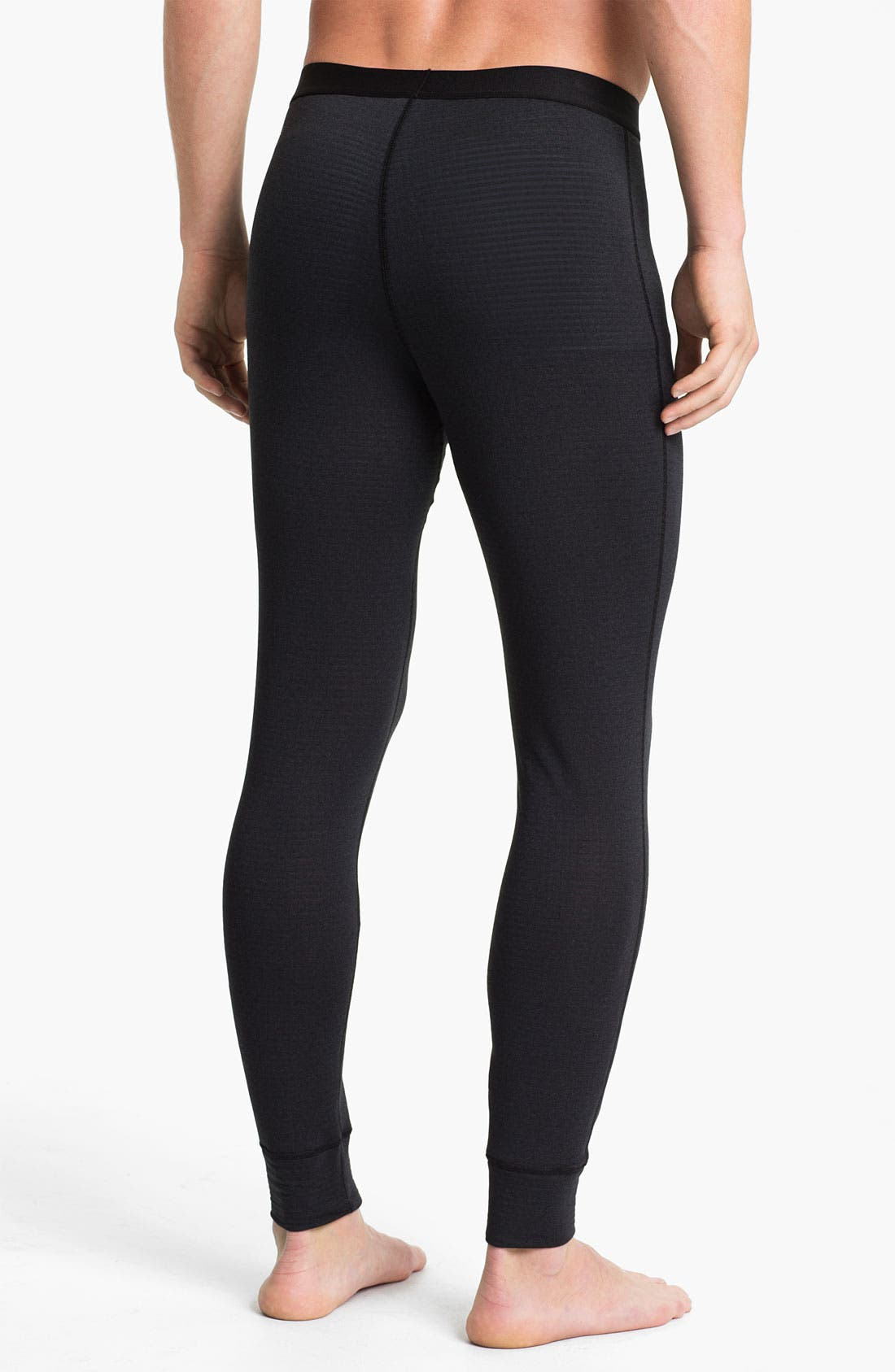 'Capilene<sup>®</sup> 4' Expedition Weight Base Layer Pants,                             Alternate thumbnail 2, color,                             Black