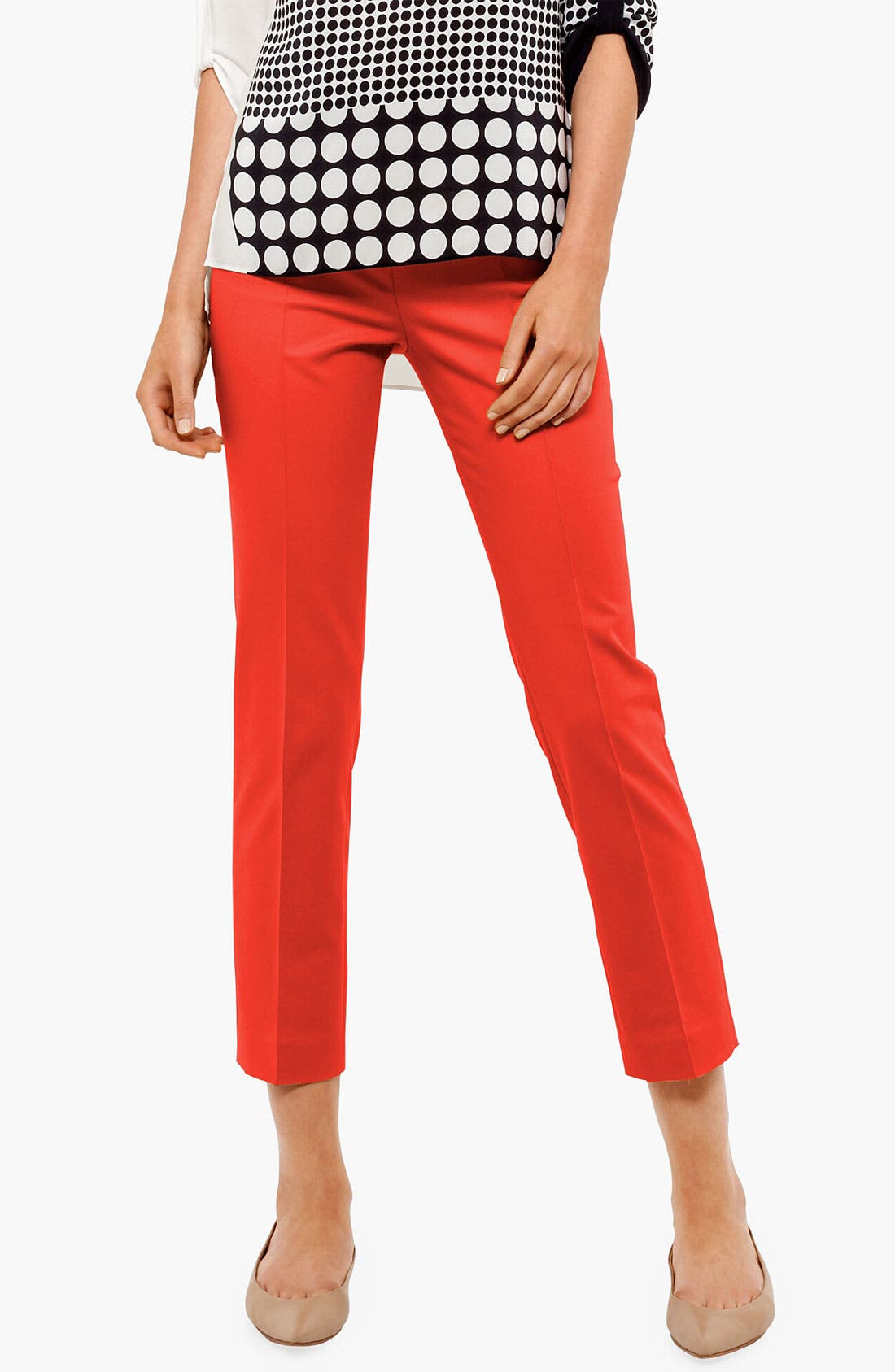 Alternate Image 1 Selected - Akris punto 'Franca' Straight Leg Crop Pants