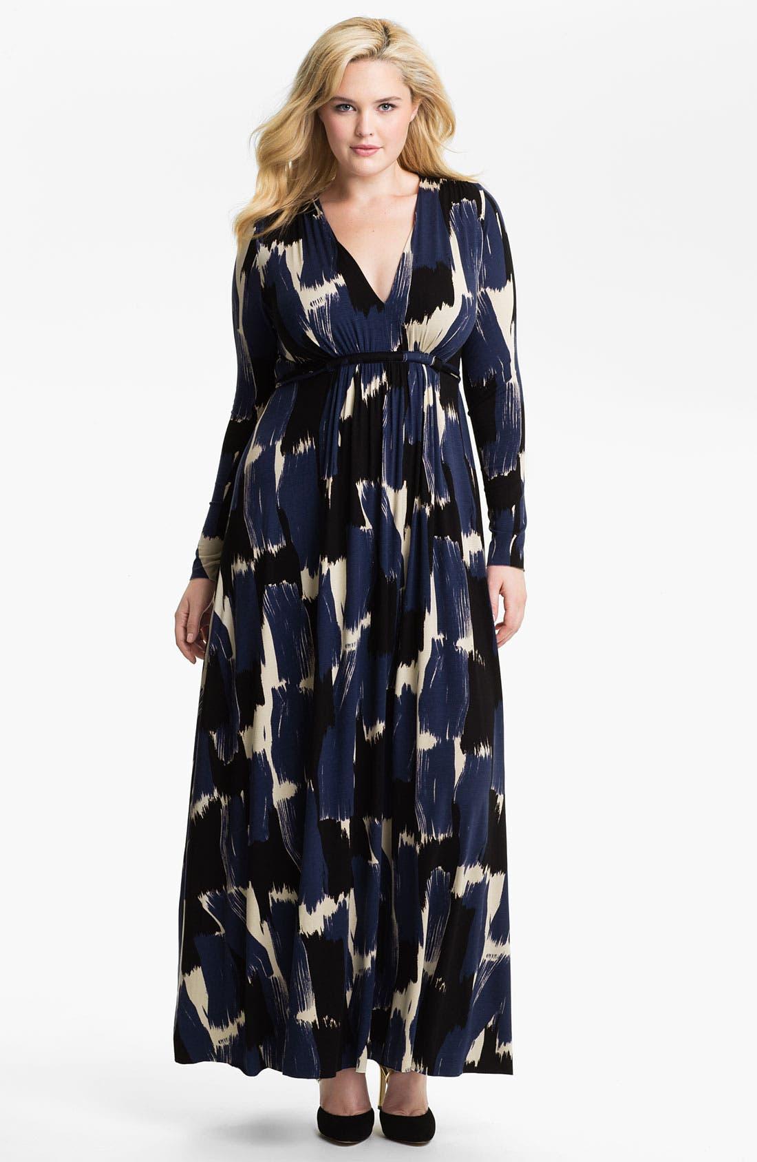Main Image - Rachel Pally Long Sleeve Maxi Dress (Plus)