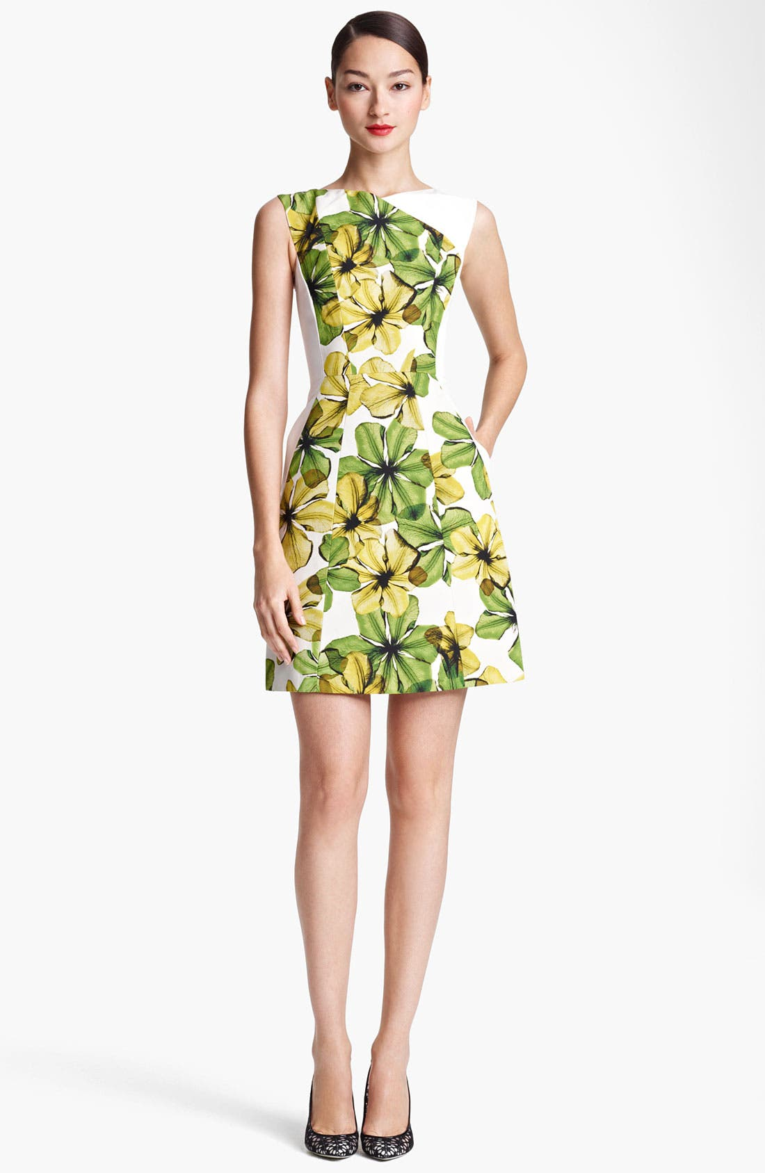 Main Image - Jason Wu Print V-Back Dress