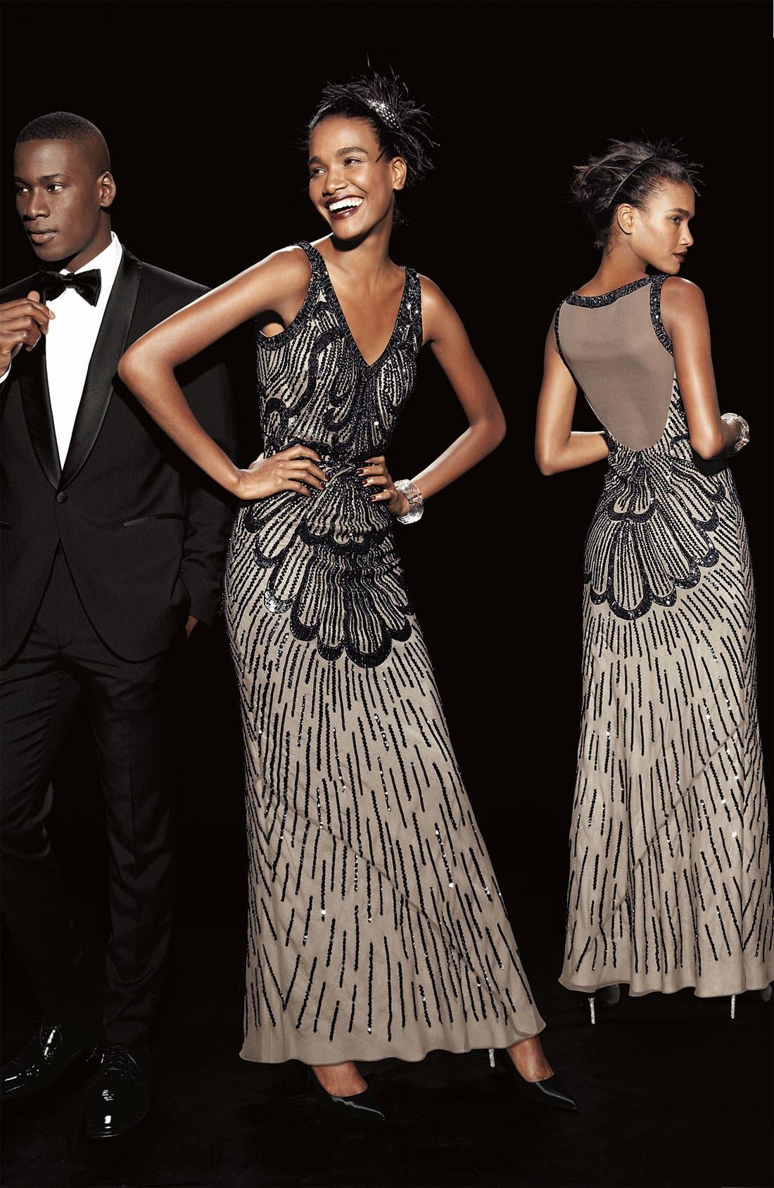 Alternate Image 4  - JS Collections Beaded Sleeveless Dress (Plus)