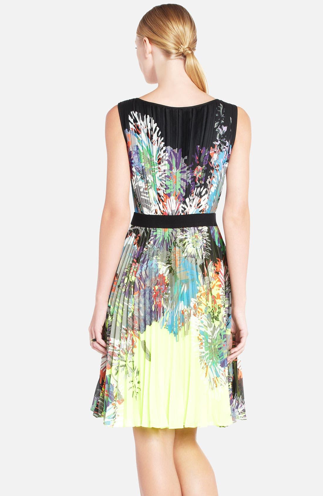 Alternate Image 2  - BCBGMAXAZRIA 'Sierra' Floral Print Pleated Dress