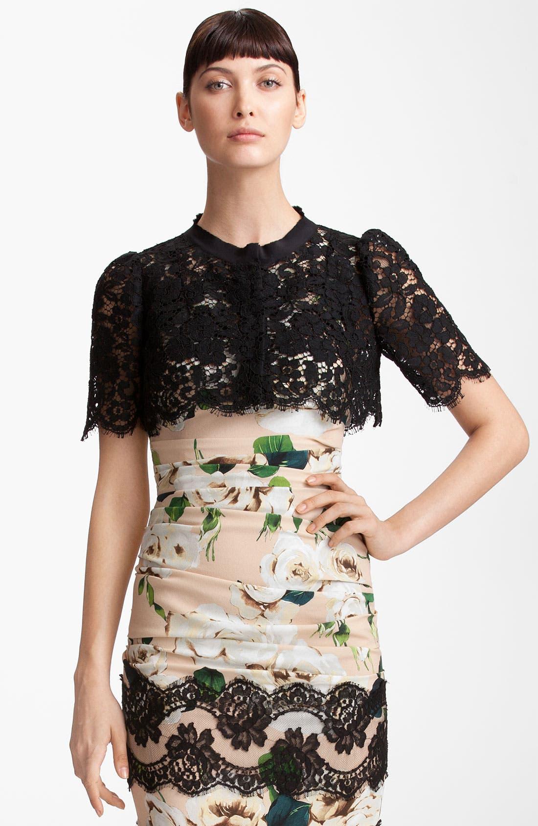 Alternate Image 1 Selected - Dolce&Gabbana Lace Bolero