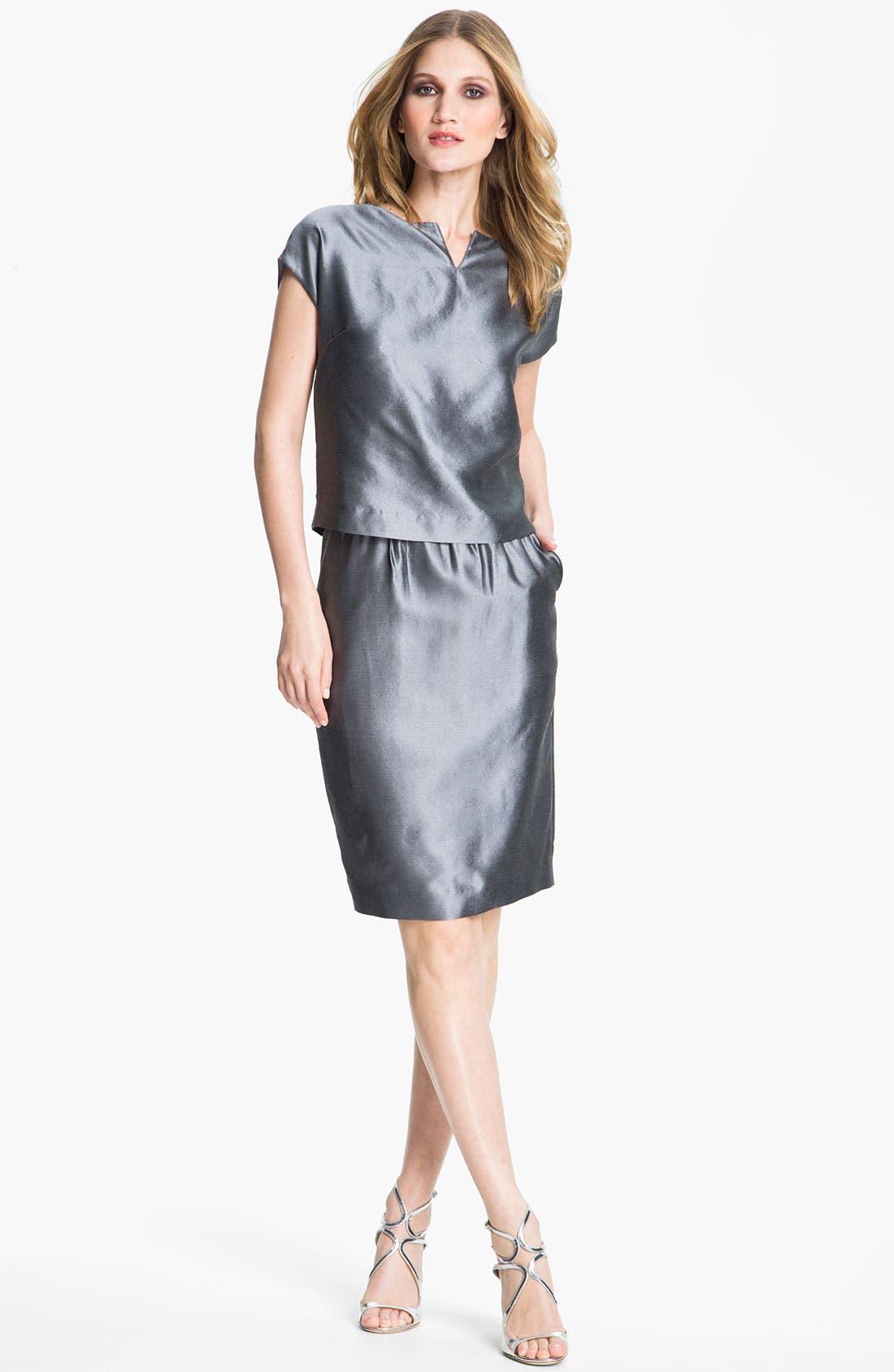 Main Image - St. John Collection Taffeta Skirt