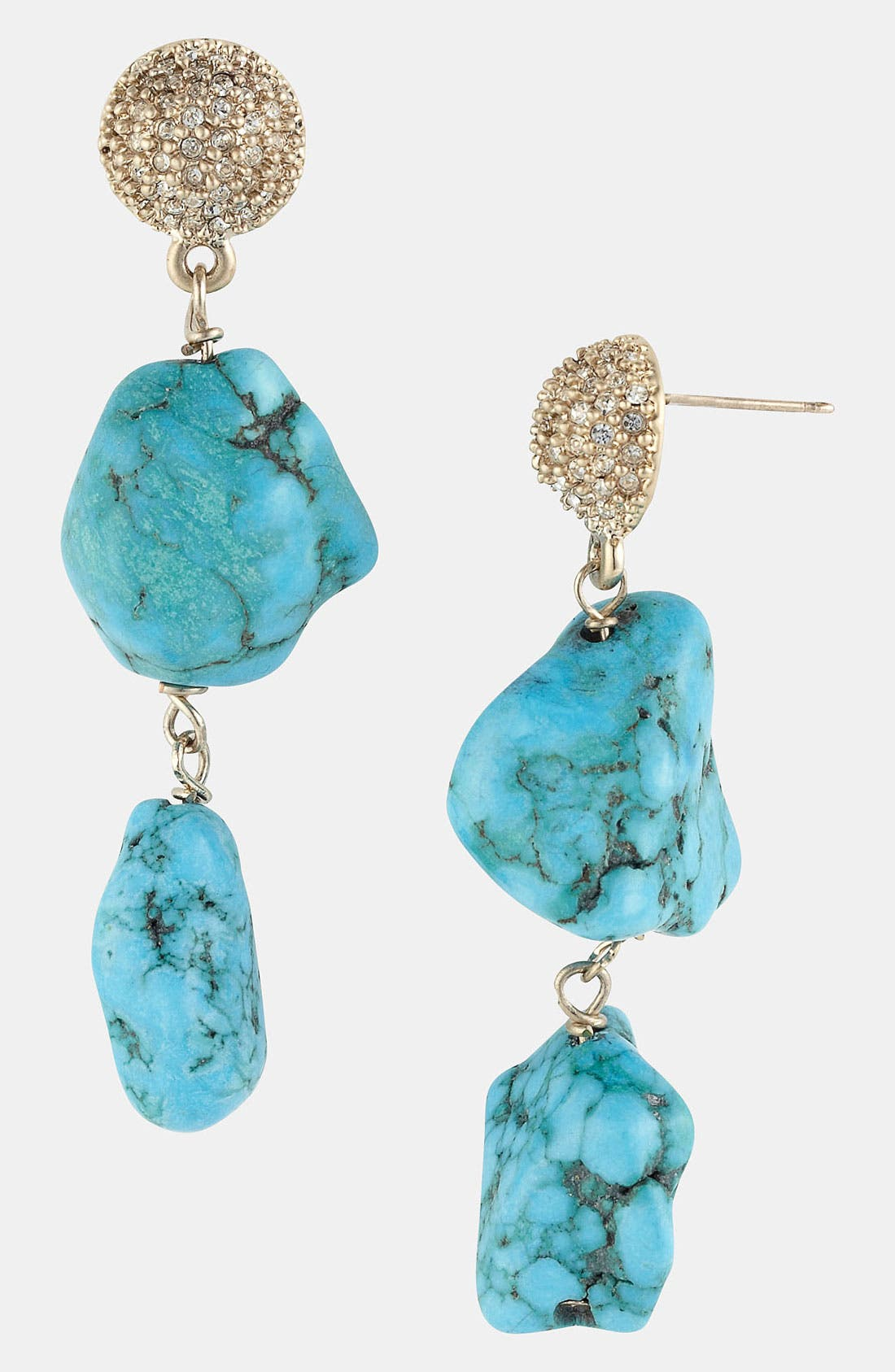 Alternate Image 1 Selected - St. John Collection Turquoise & Crystal Drop Earrings