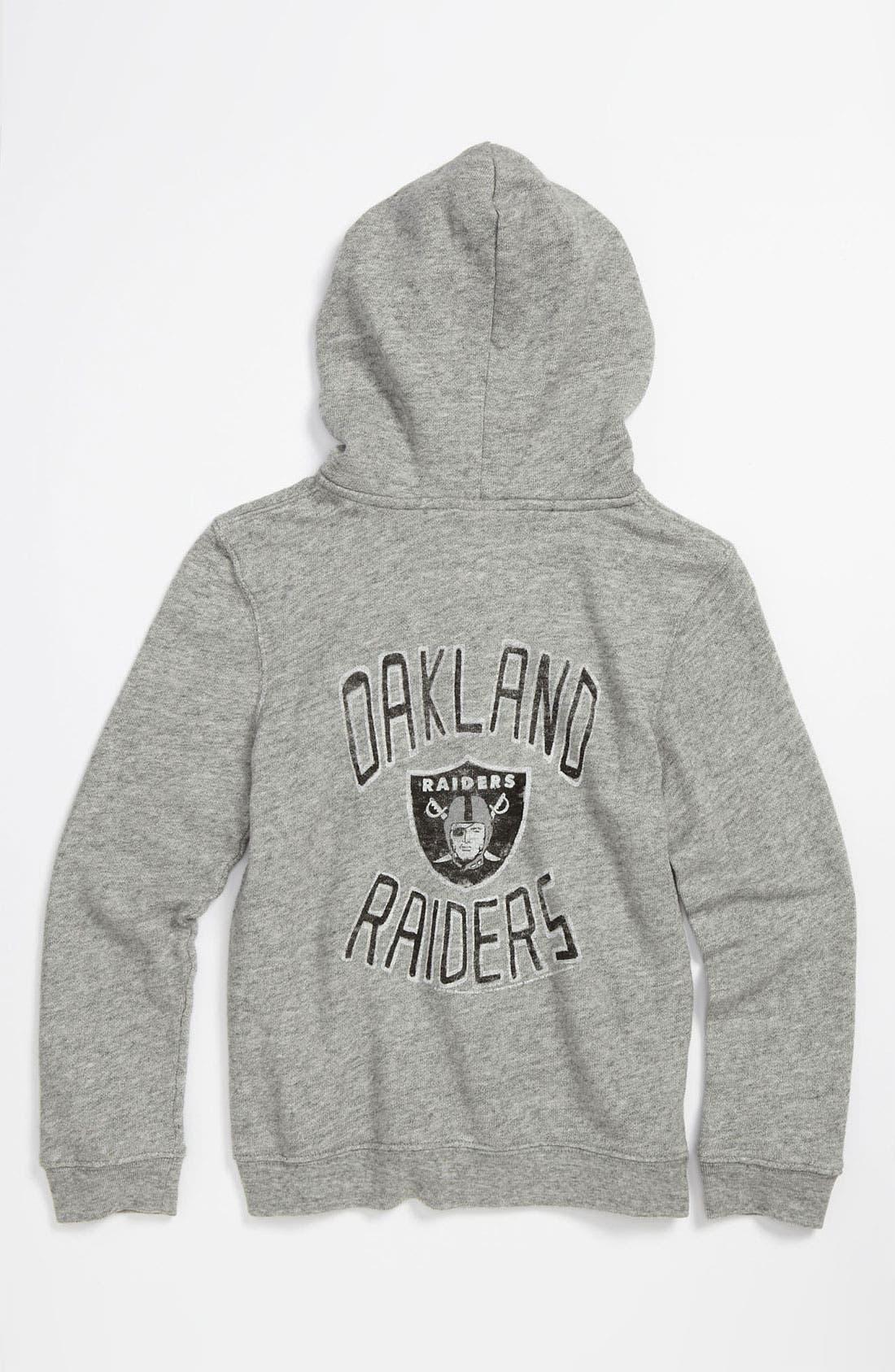 Alternate Image 1 Selected - Junk Food 'Oakland Raiders' Hoodie (Little Boys & Big Boys)