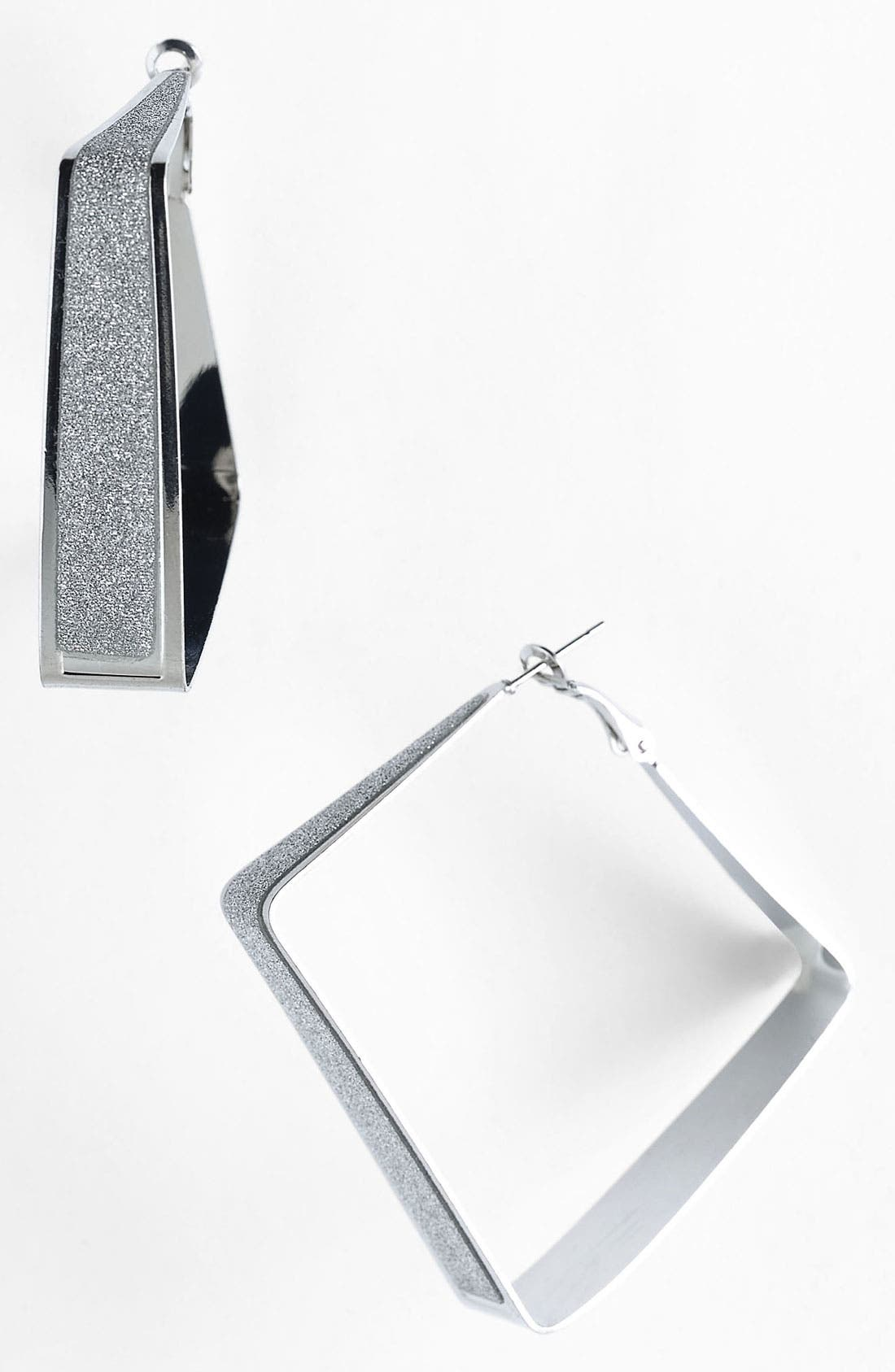 Alternate Image 1 Selected - Guinevere 'Che' Square Hoop Earrings