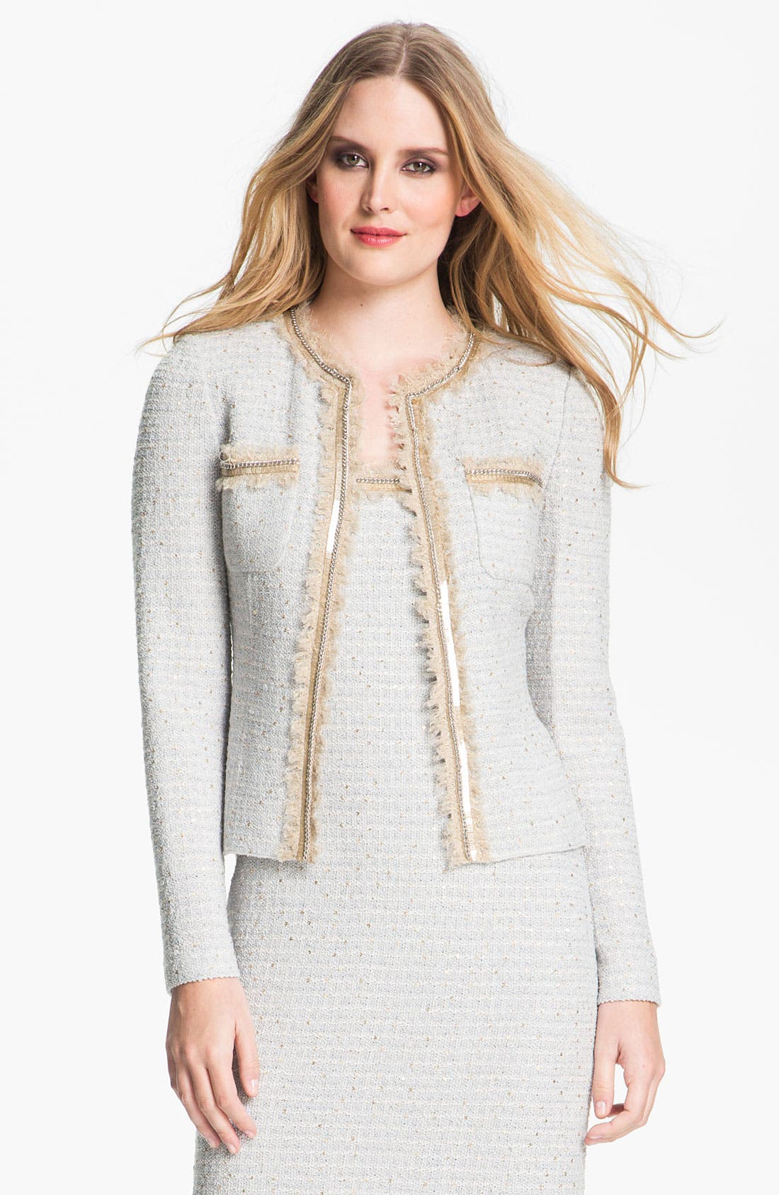 Alternate Image 2  - St. John Collection Sequin Ice Tweed Knit Jacket