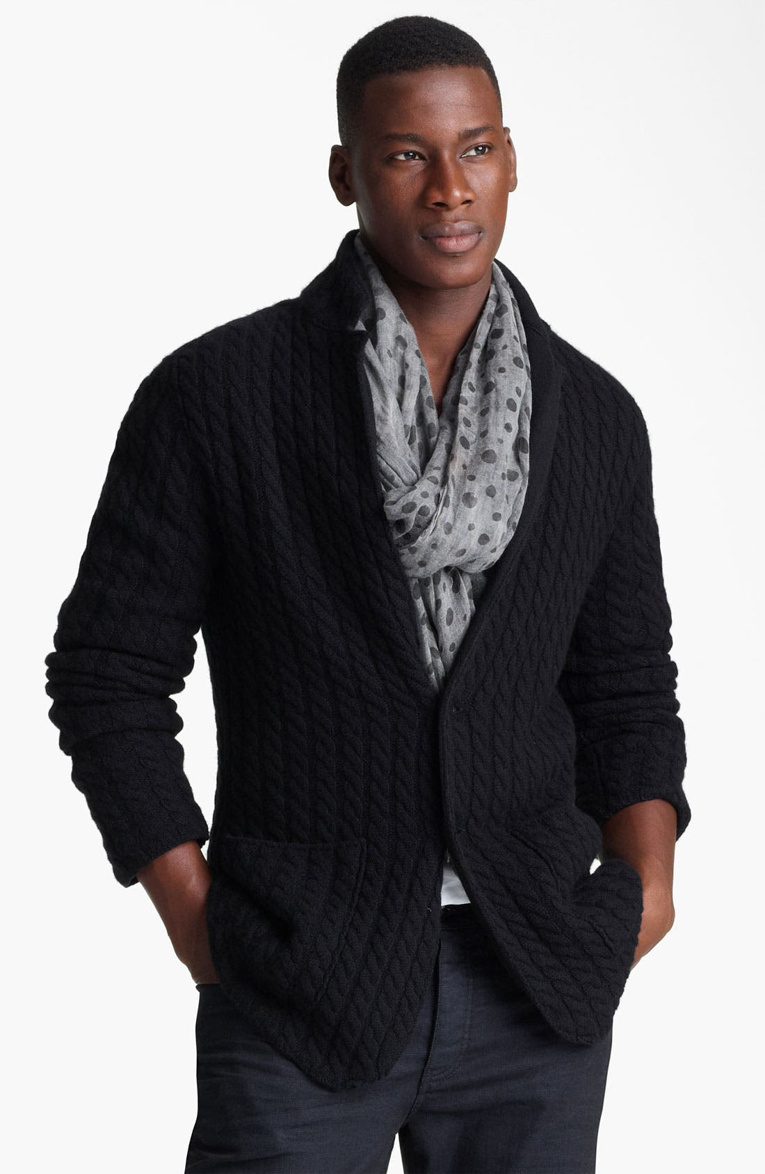 Main Image - John Varvatos Collection Double Layer Cashmere Sweater