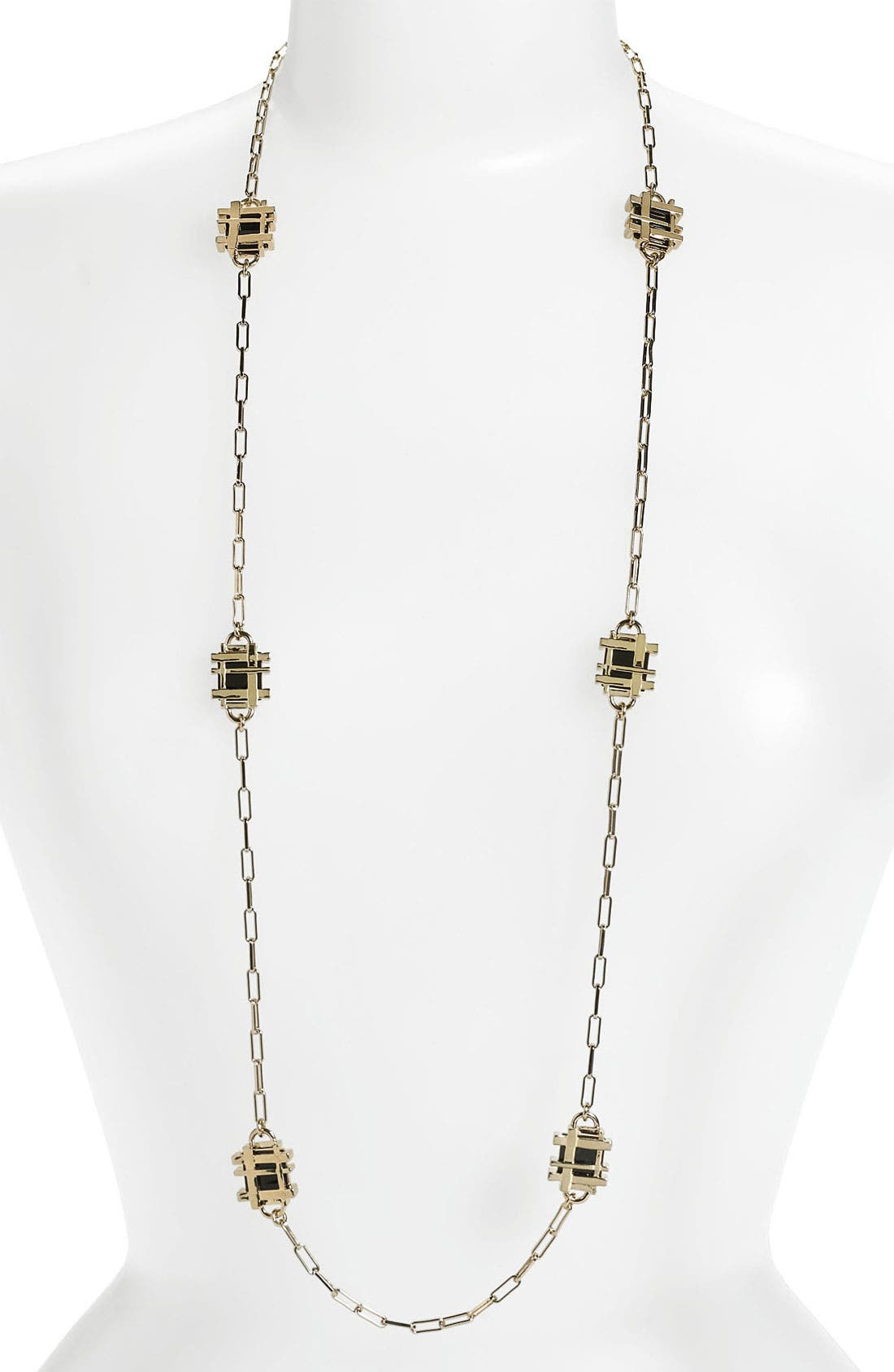 Alternate Image 1 Selected - Tory Burch 'Mini' Long Station Necklace