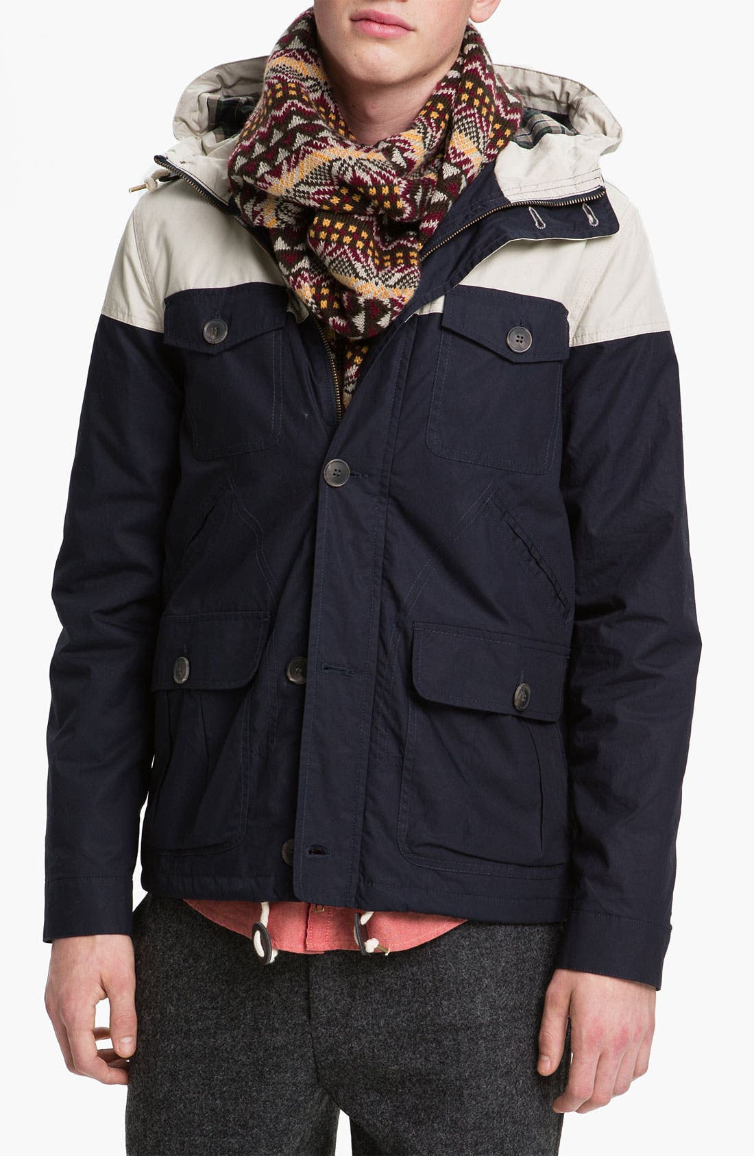 Alternate Image 1 Selected - Topman Colorblock Trek Jacket