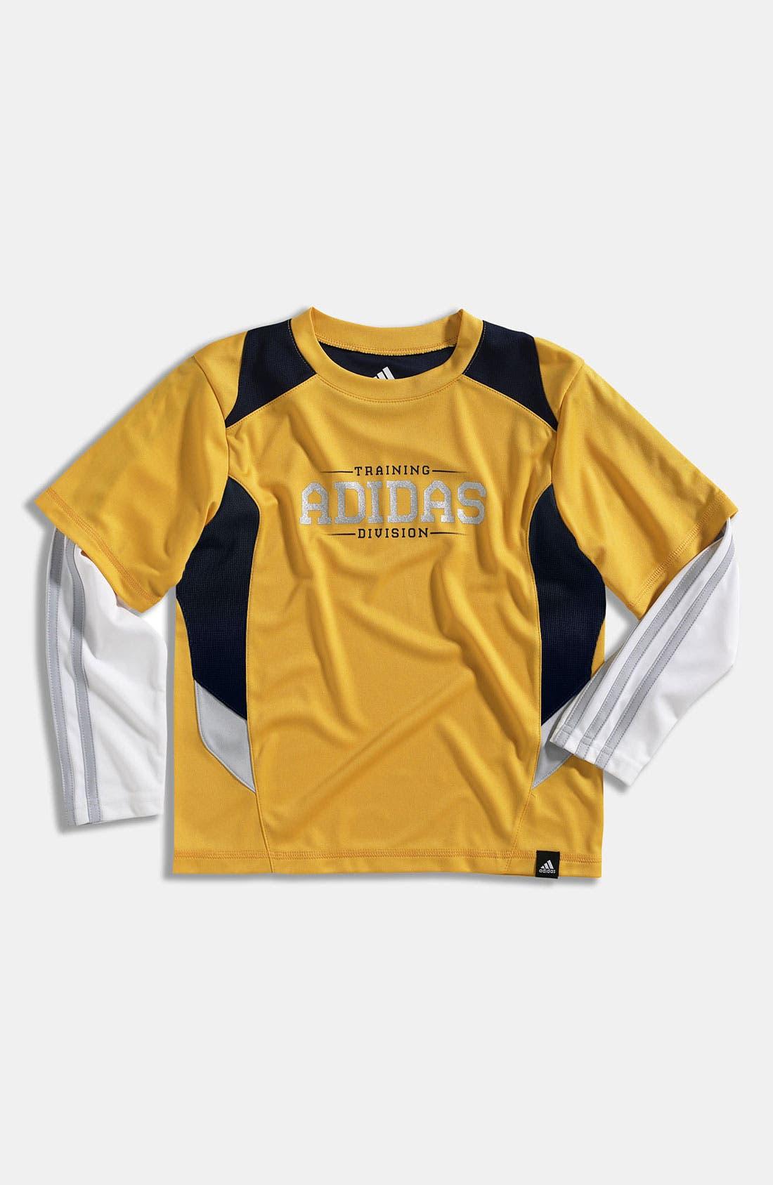 Alternate Image 1 Selected - adidas 'Tech Trainer' T-Shirt (Little Boys)