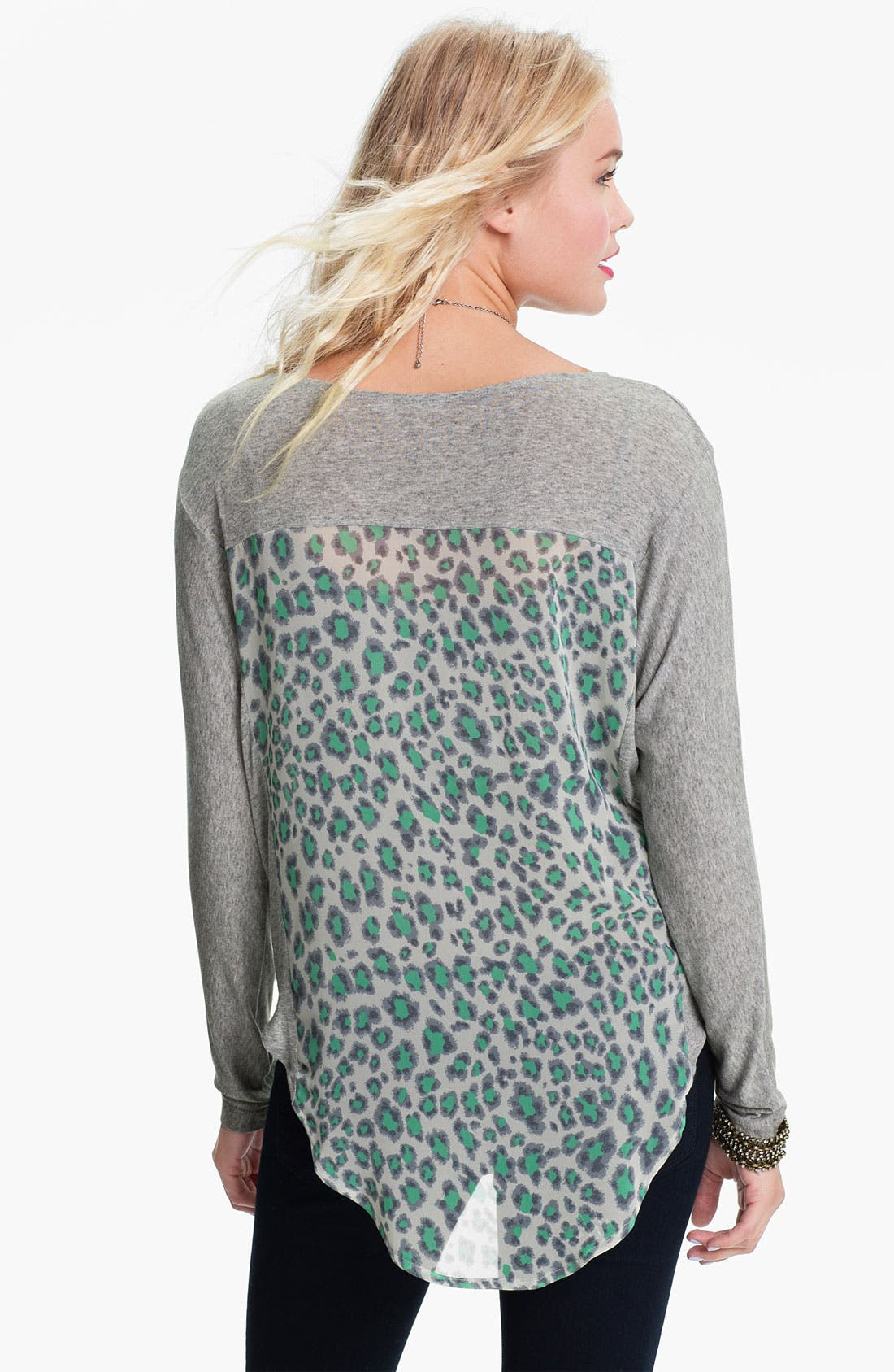 Alternate Image 2  - Print Mixed Media Dolman Top