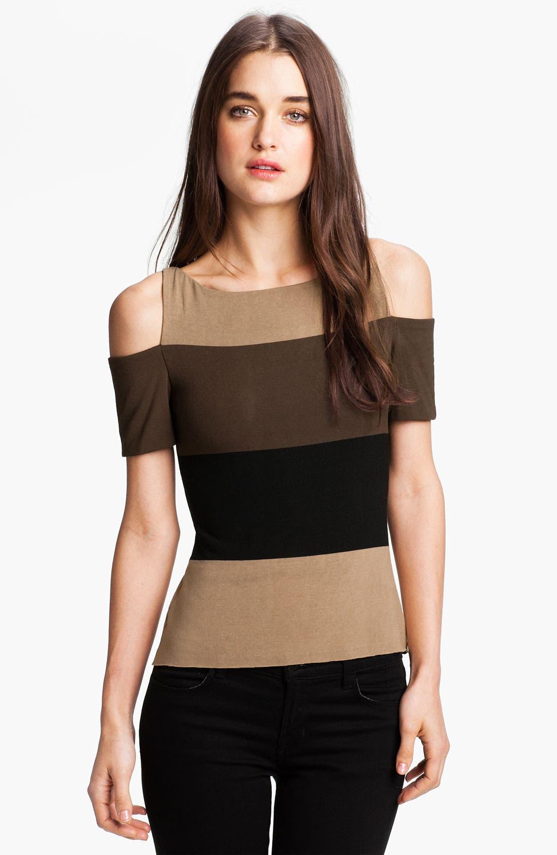 Main Image - Bailey 44 Stripe Cutout Shoulder Top