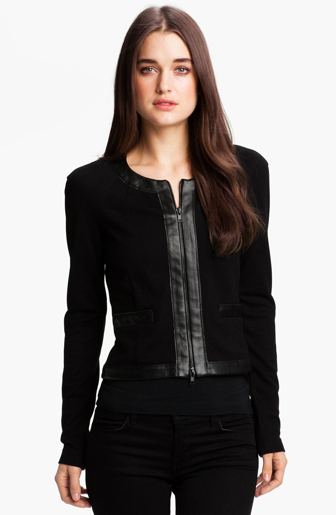 Alternate Image 1 Selected - Bailey 44 Faux Leather Trim Jacket