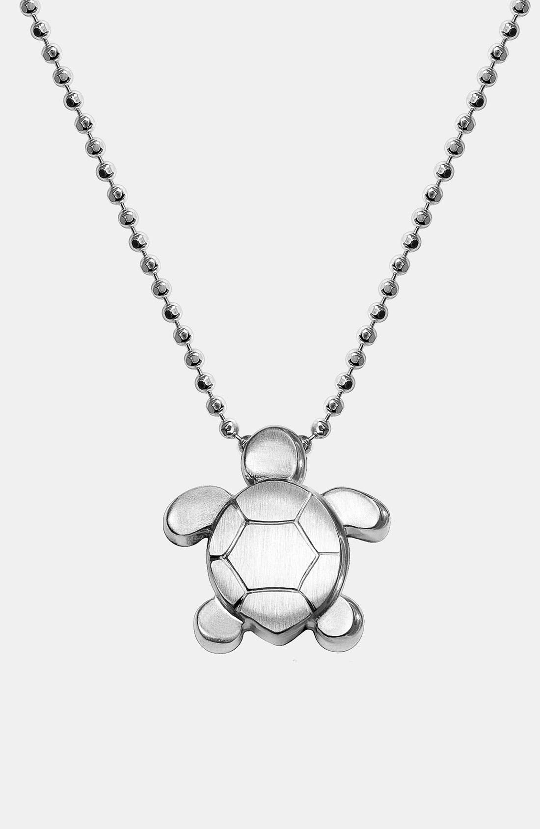 Alternate Image 1 Selected - Alex Woo 'Little Seasons' Sea Turtle Pendant Necklace