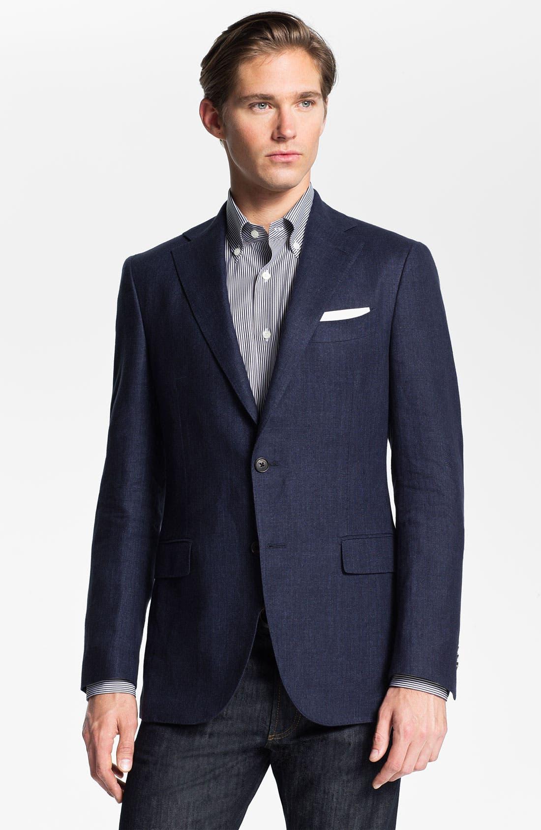 Alternate Image 1 Selected - Salvatore Ferragamo Wool Blend Blazer