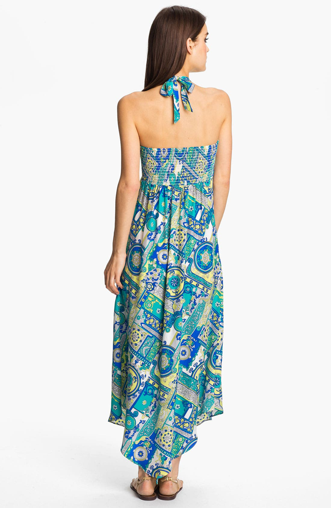 Alternate Image 2  - ALICE & TRIXIE 'Savannah' Convertible Tie Silk Maxi Dress
