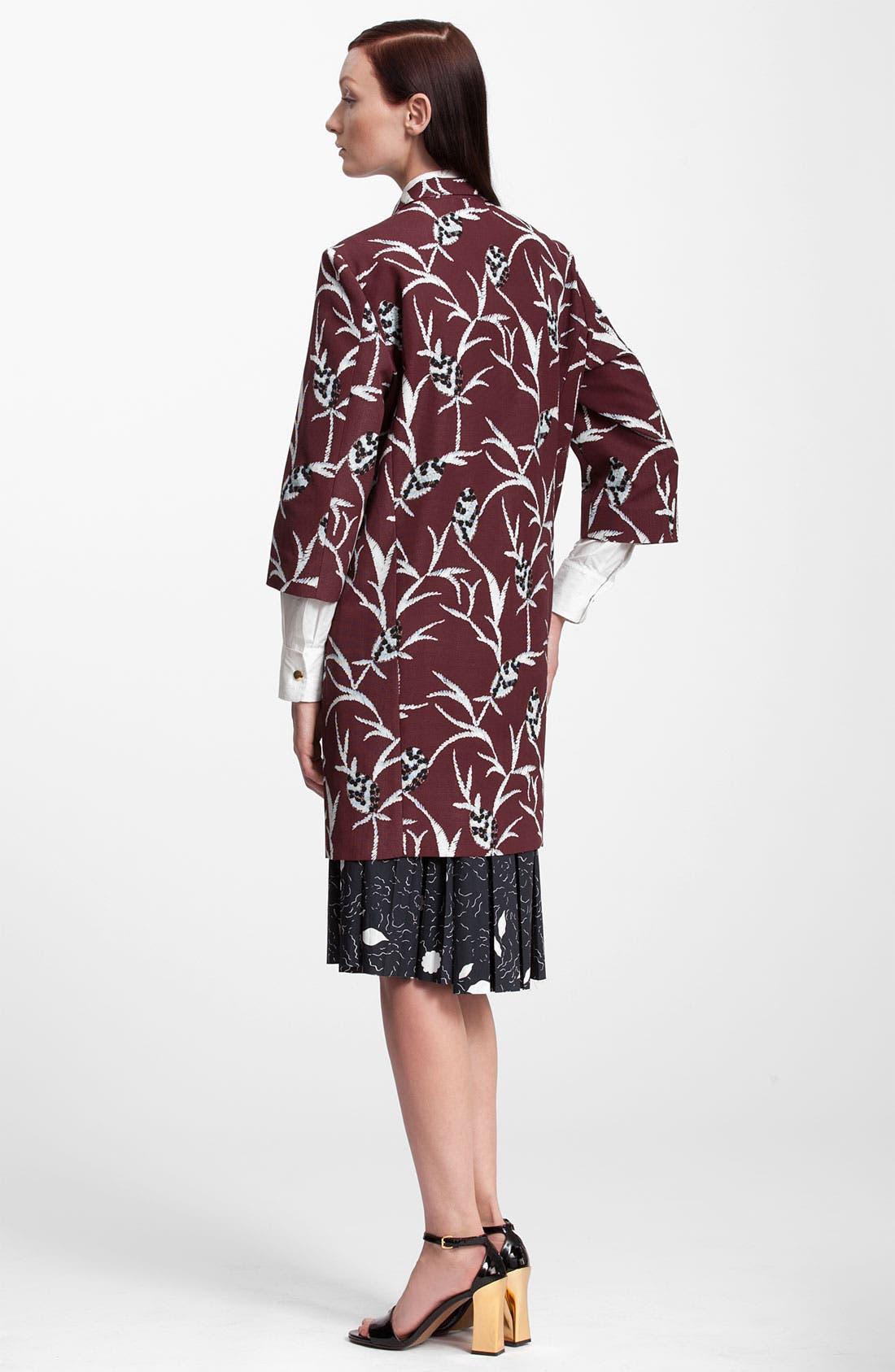 Alternate Image 2  - Marni Floral Structure Print Cotton Blend Coat