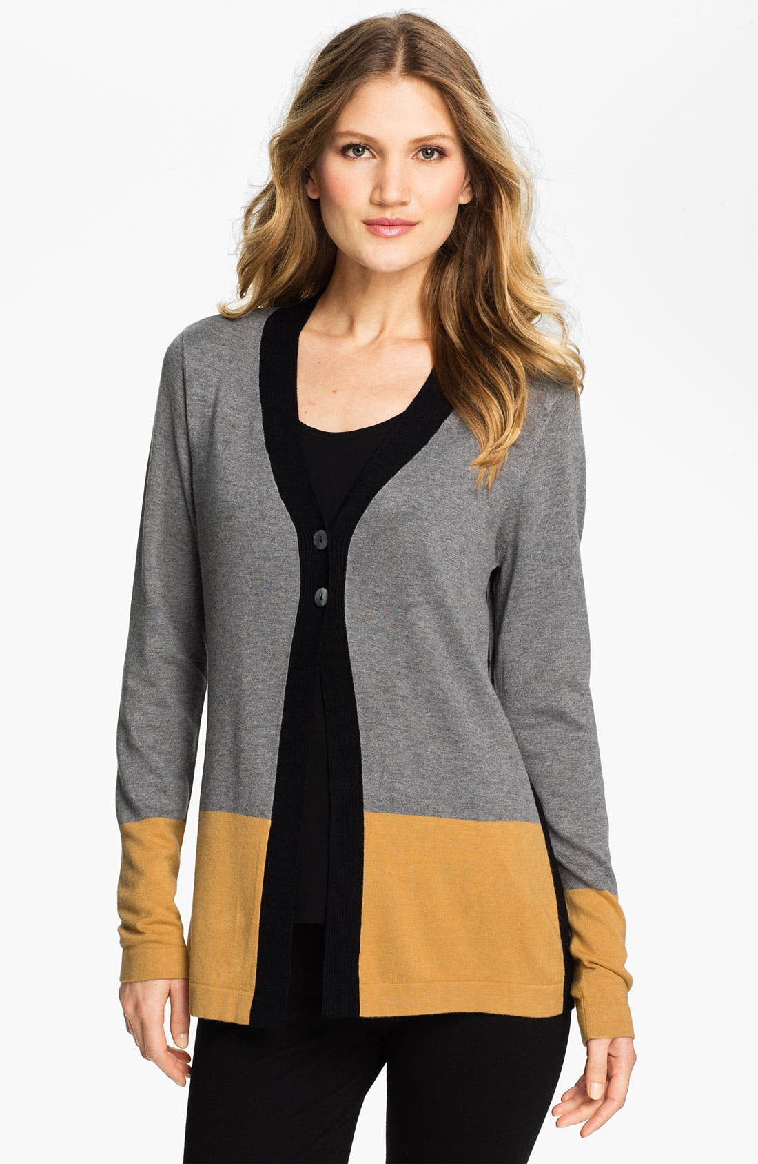 Alternate Image 1 Selected - Beatrix Ost Colorblock Cardigan (Online Exclusive)