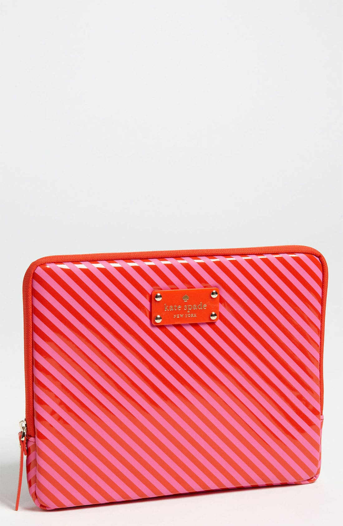 Alternate Image 1 Selected - kate spade new york diagonal stripe iPad case