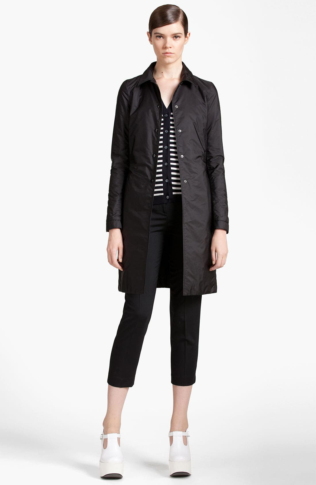 Alternate Image 1 Selected - Jil Sander Navy Snap Front Coat