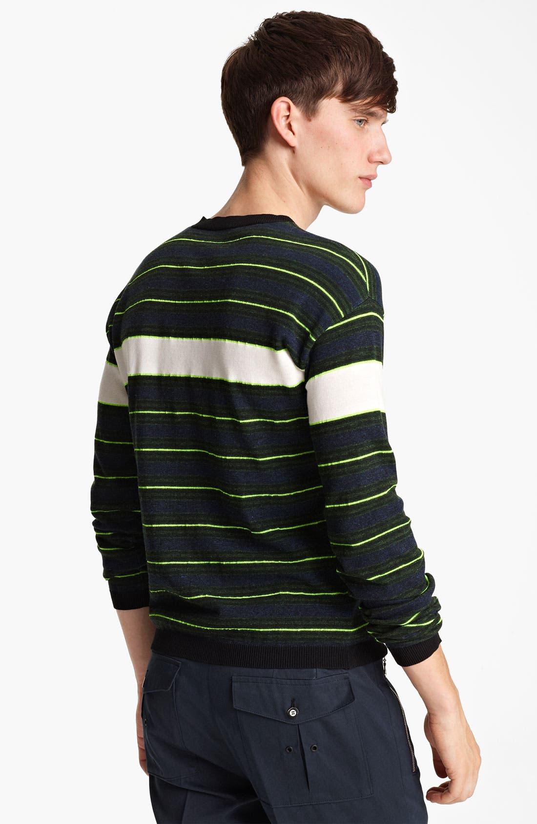 Alternate Image 2  - KENZO Stripe Crewneck Sweater