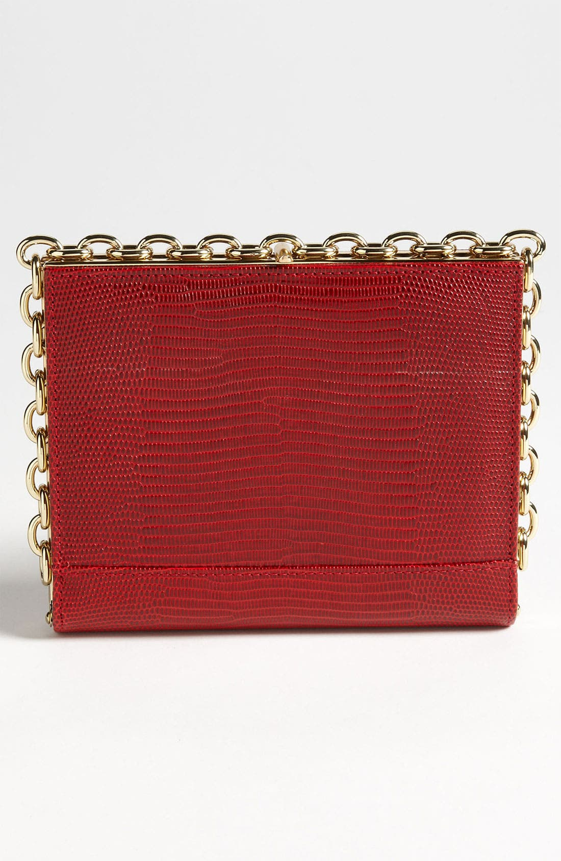 Alternate Image 4  - Diane von Furstenberg 'Catena' Lizard Embossed Clutch
