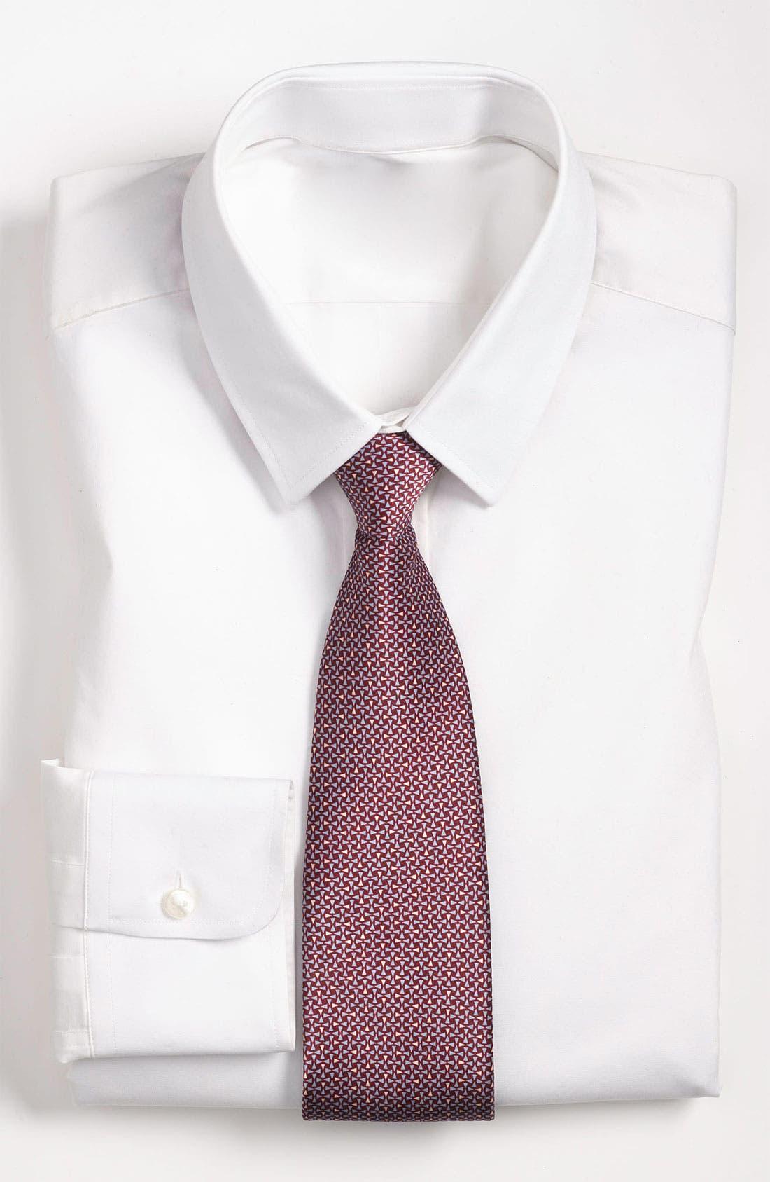 Main Image - Yves Saint Laurent Triangle Pattern Silk Woven Tie