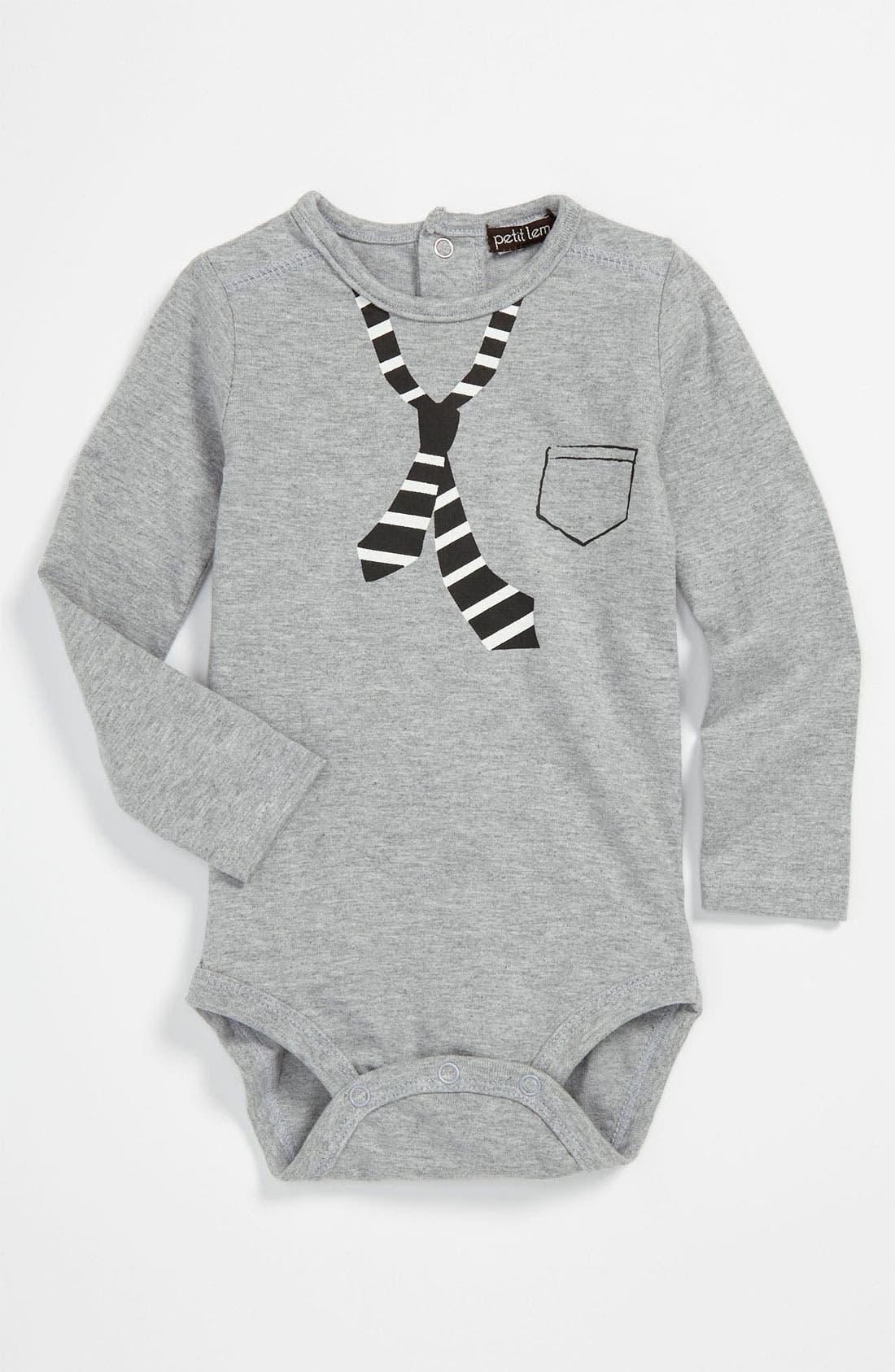 Alternate Image 1 Selected - Petit Lem Bodysuit (Infant)