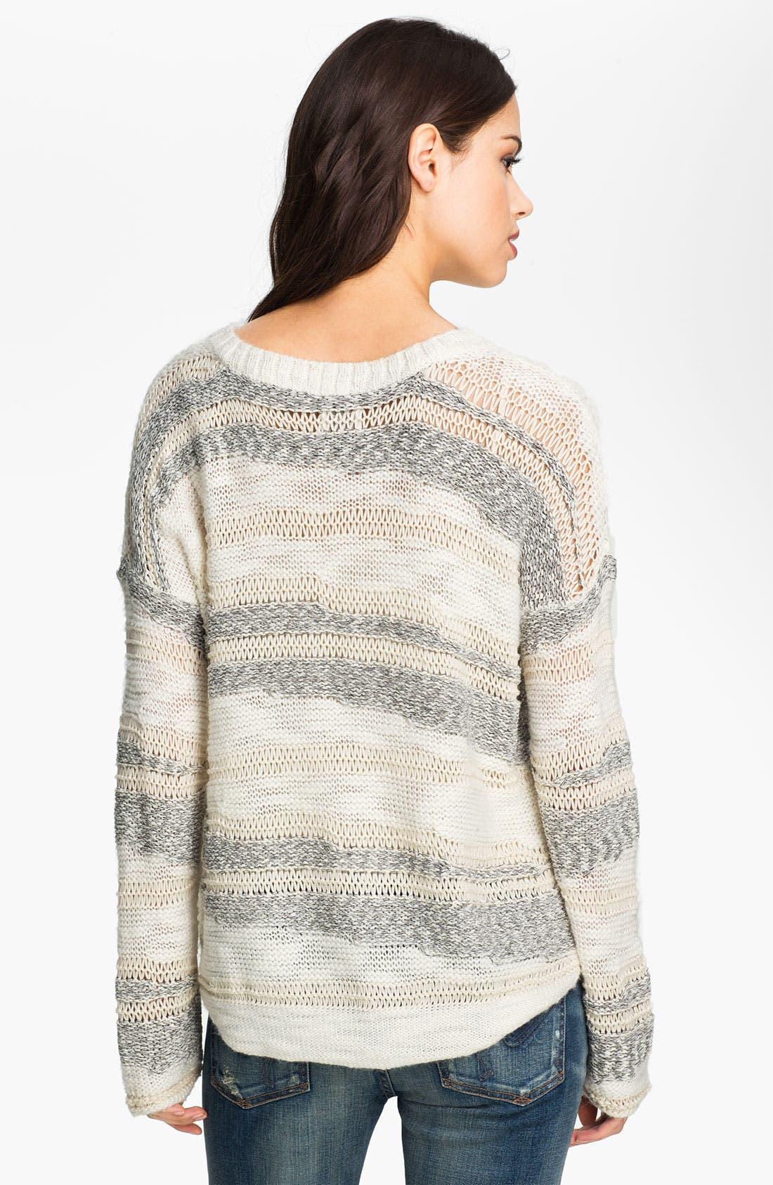 Alternate Image 2  - Ella Moss 'Simona' Streaky Stripe Sweater