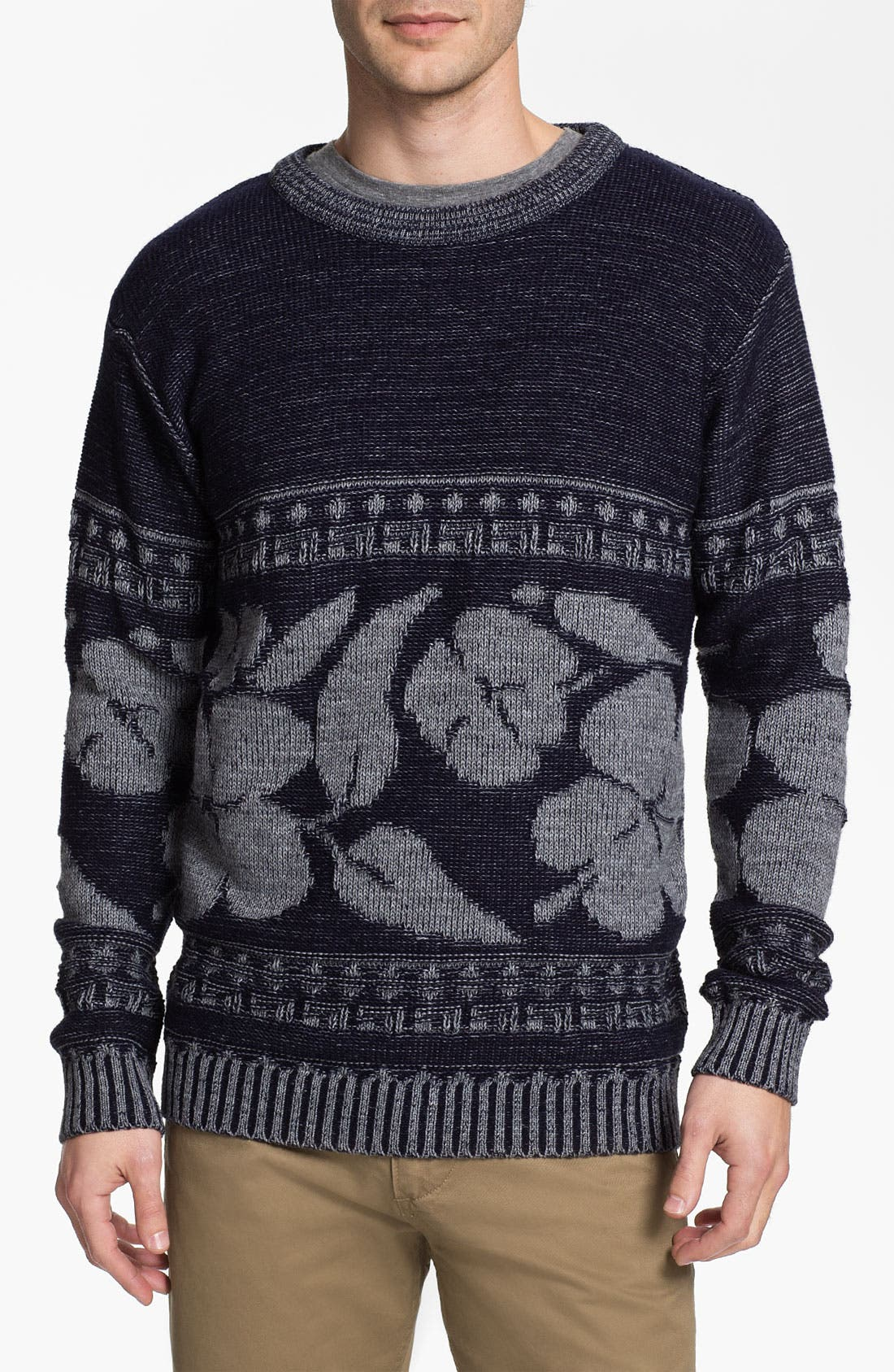 Alternate Image 1 Selected - Vanguard 'Hibiscus' Crewneck Sweater