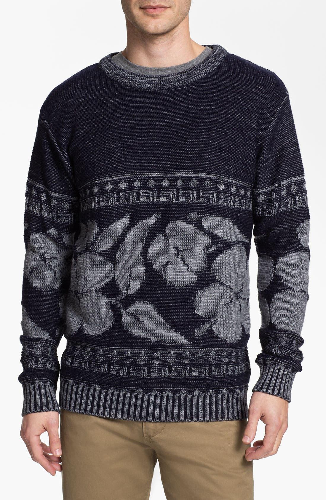 Main Image - Vanguard 'Hibiscus' Crewneck Sweater