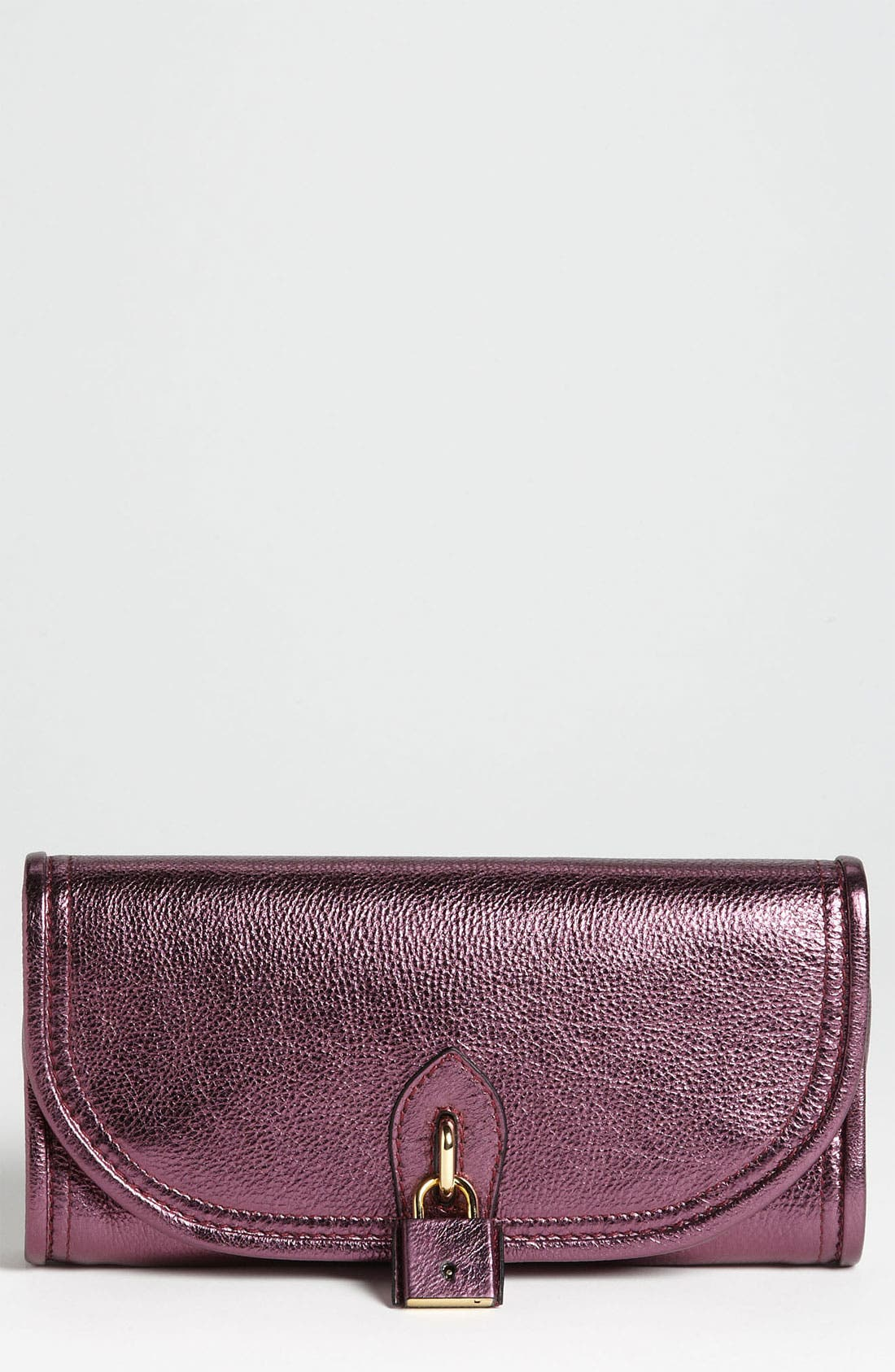 Alternate Image 1 Selected - Burberry 'Mayfield' Metallic Leather Clutch