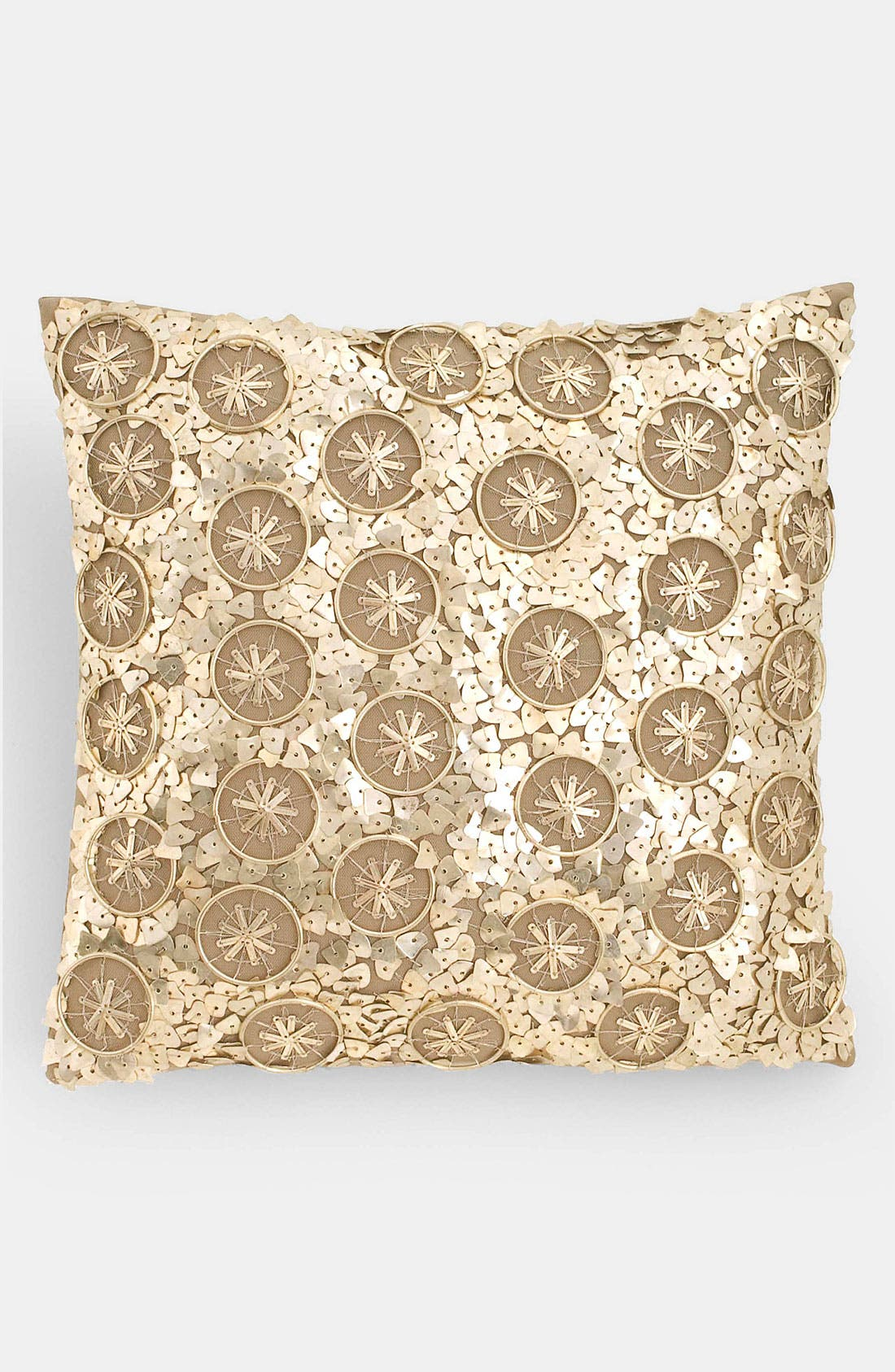 Alternate Image 1 Selected - Donna Karan 'Brushed Silver' Silk Pillow (Online Only)