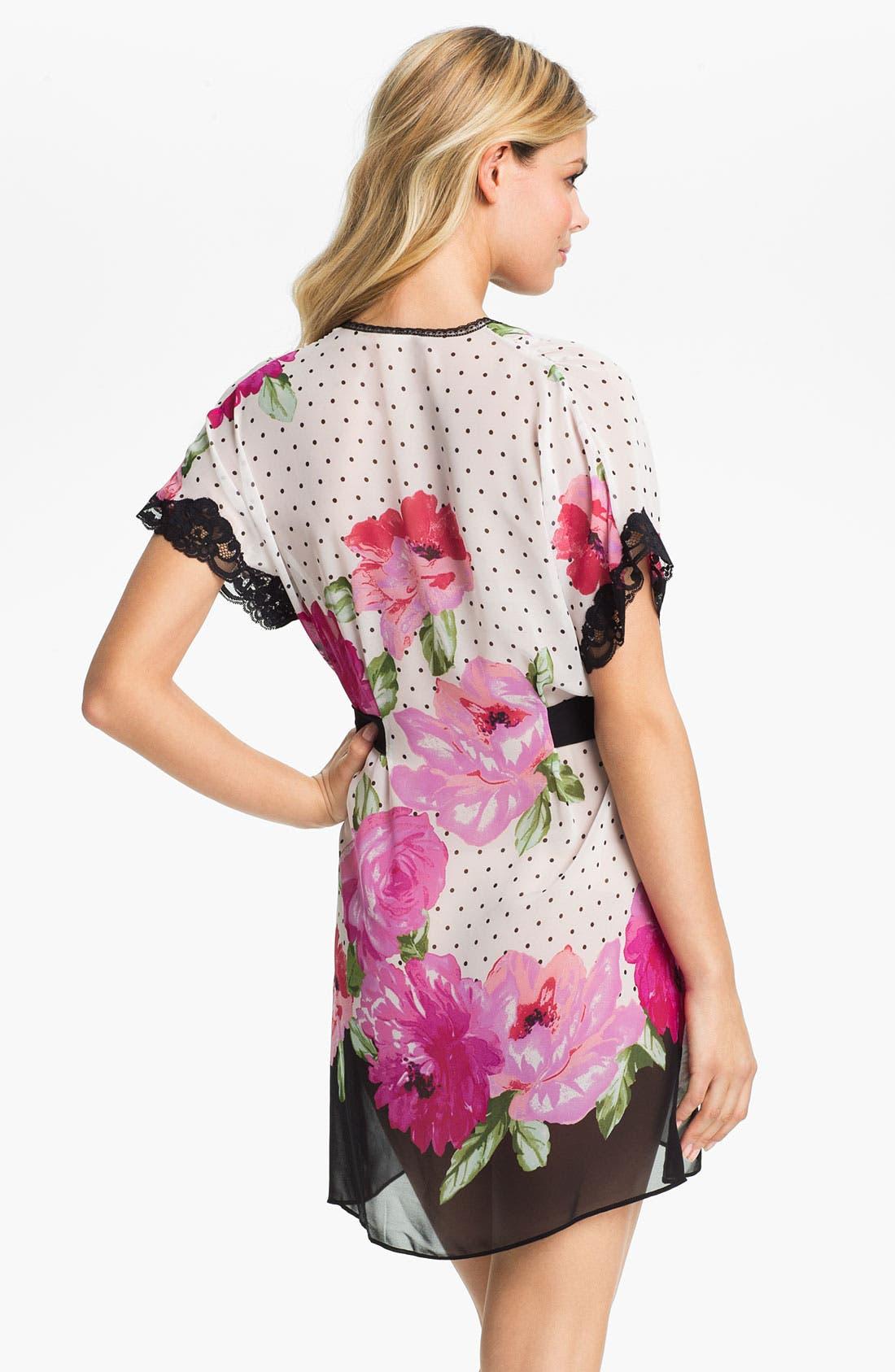 Alternate Image 2  - In Bloom by Jonquil 'Roses' Short Robe