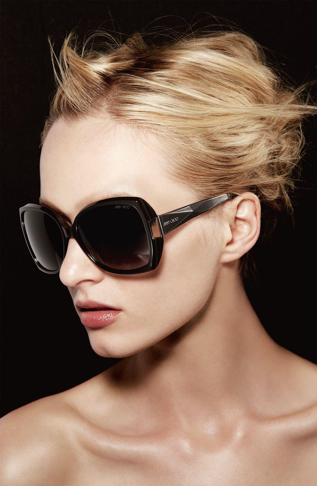 Alternate Image 2  - Jimmy Choo 'Gaby' Oversized Sunglasses