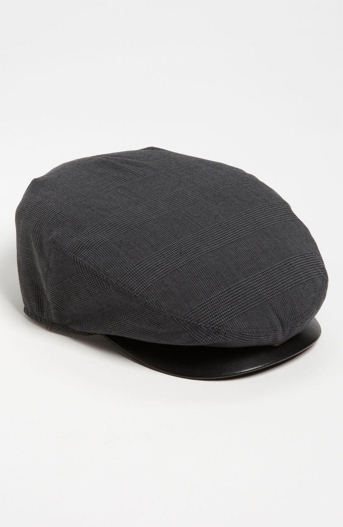 Main Image - John Varvatos Star USA 'Ivy' Leather Trim Cap