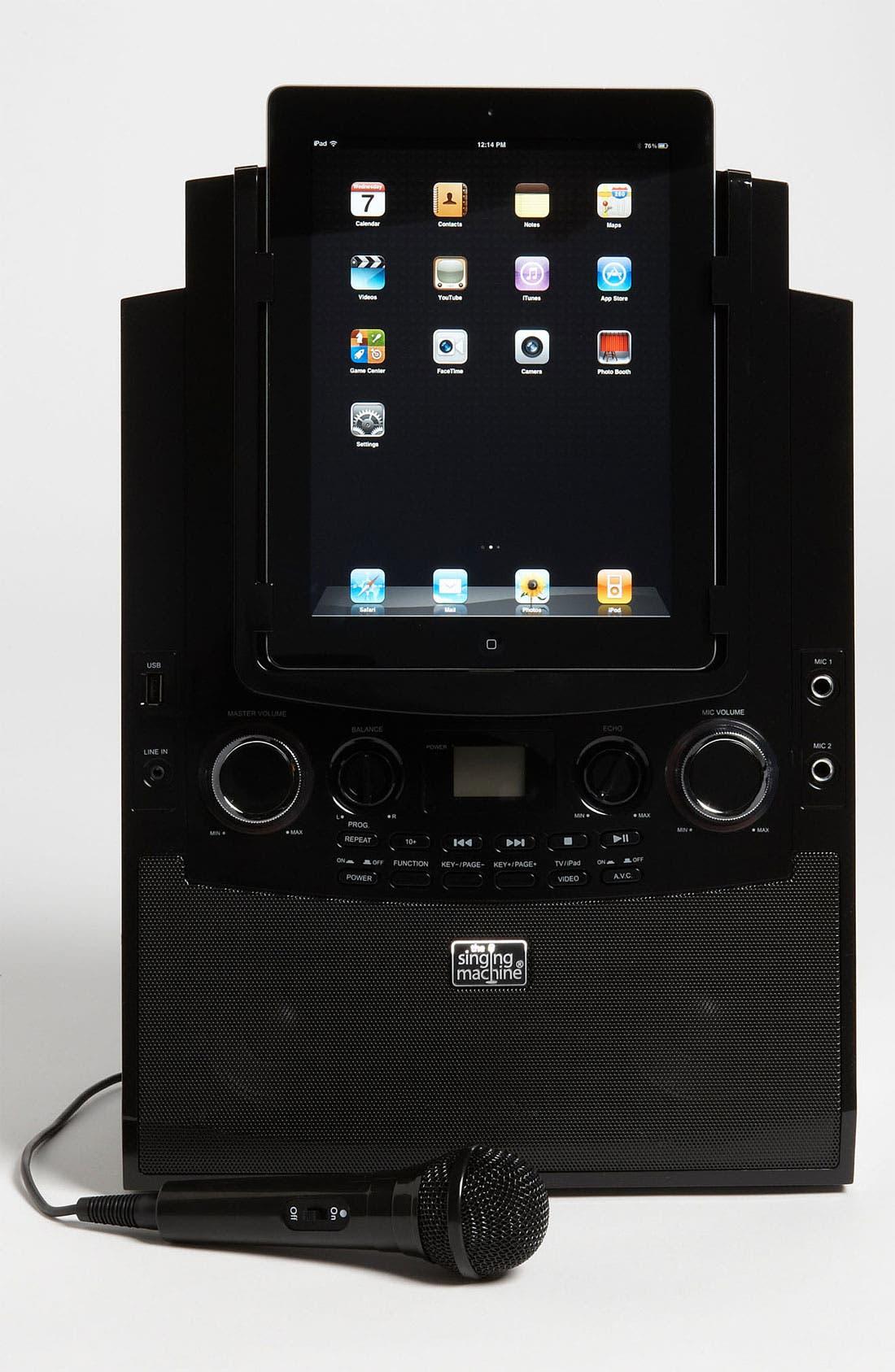 Alternate Image 1 Selected - Singing Machine iPad Docking Karaoke System (Girls)