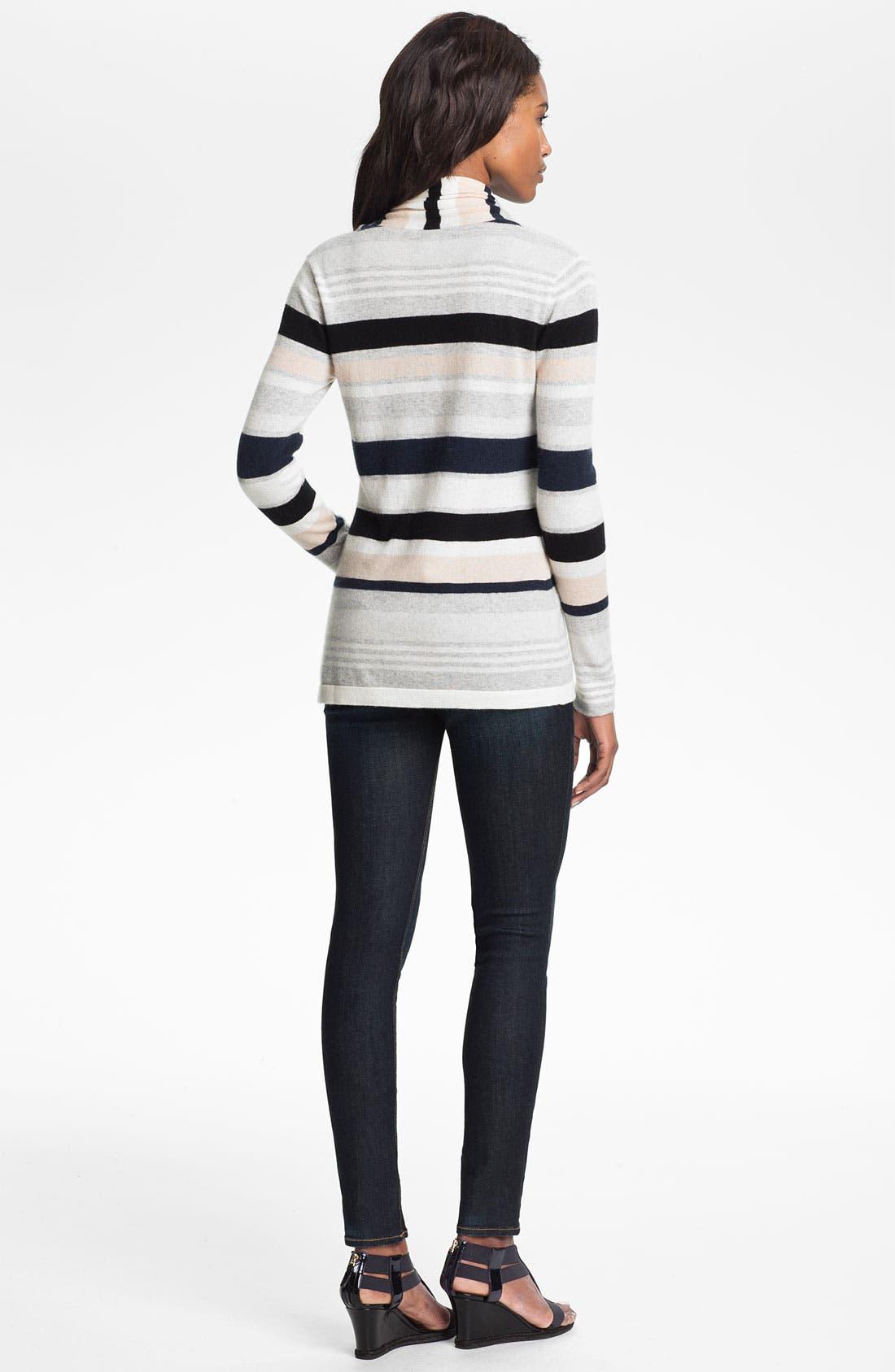 Alternate Image 2  - autumn cashmere Multi Stripe Drape Front Cardigan