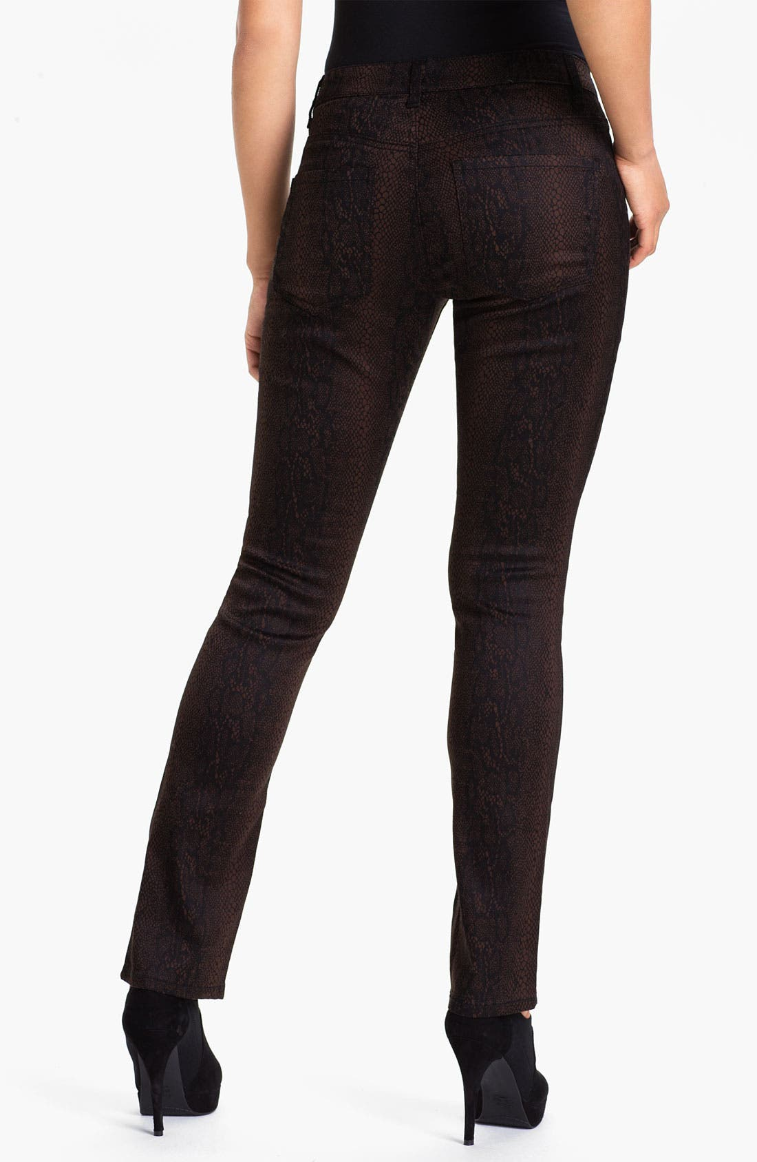 Alternate Image 2  - Liverpool Jeans Company 'Sadie' Print Straight Leg Sateen Jeans (Petite) (Online Only)