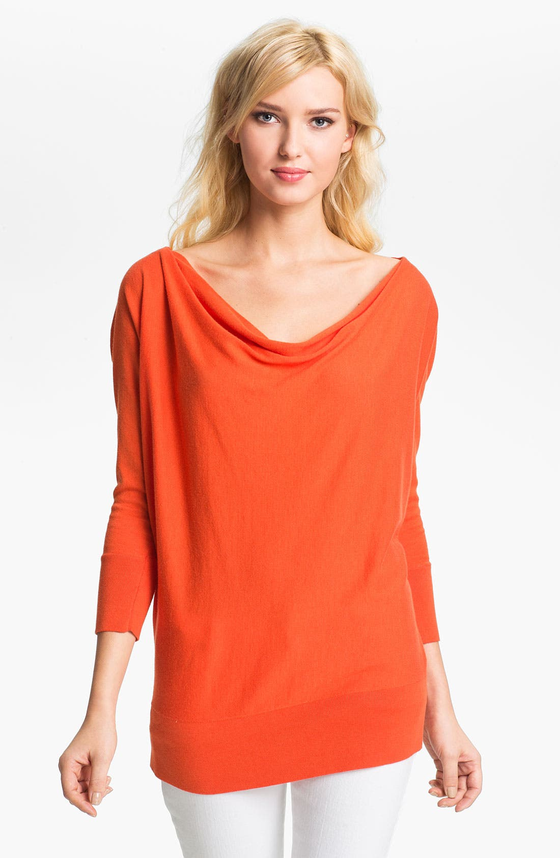 Zip Shoulder Sweater,                             Main thumbnail 1, color,                             Mandarin
