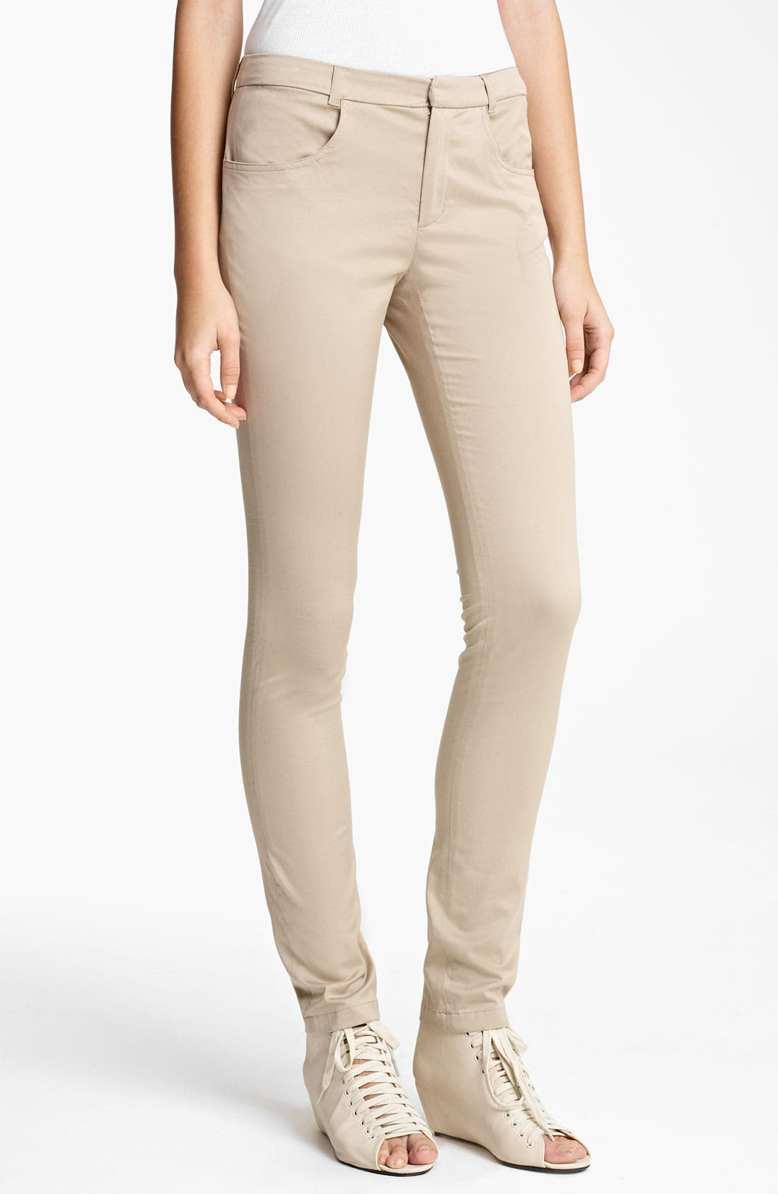 Alternate Image 1 Selected - Band of Outsiders Slim Stretch Cotton Pants