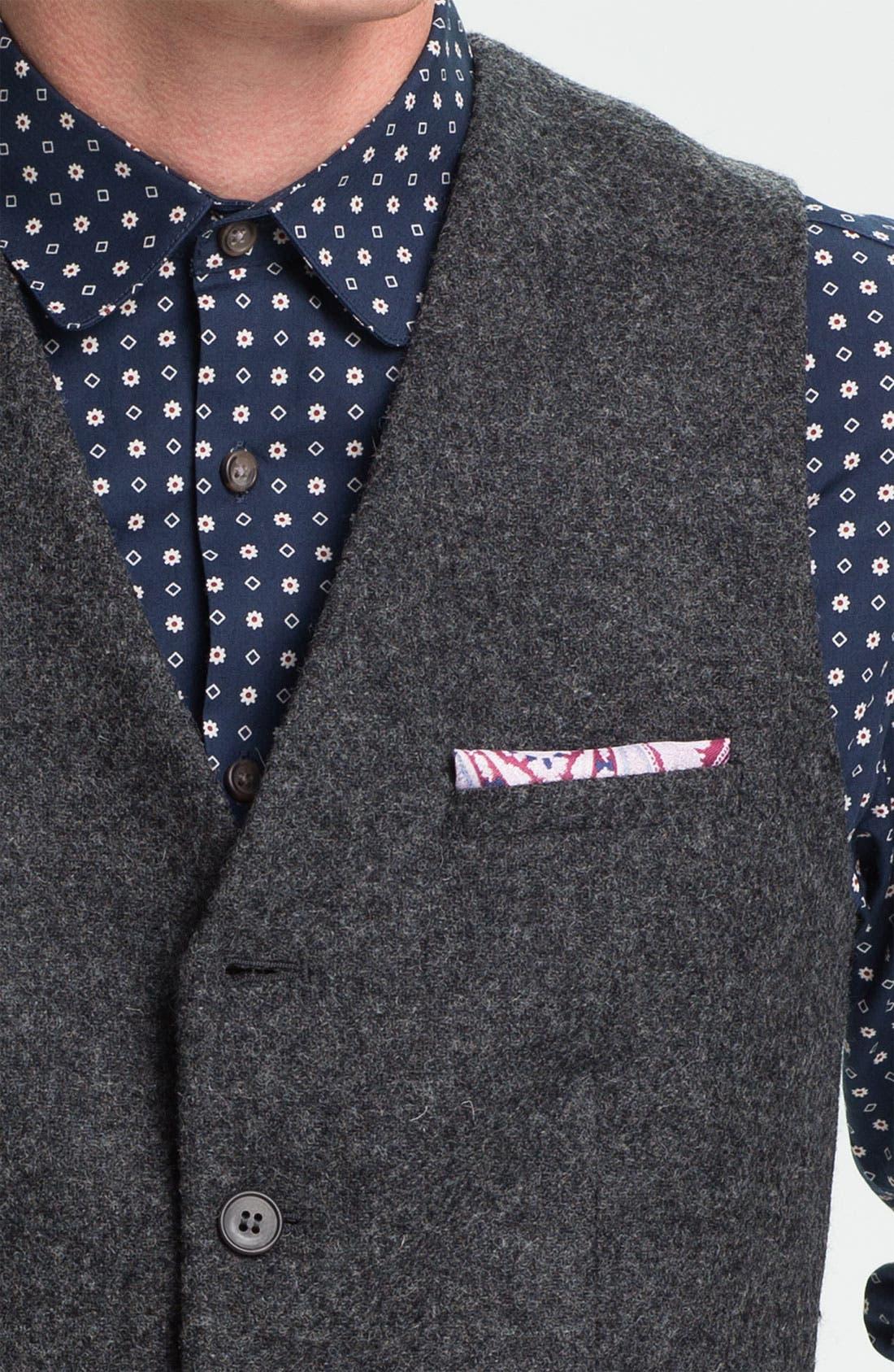 Alternate Image 3  - Topman Wool Waistcoat