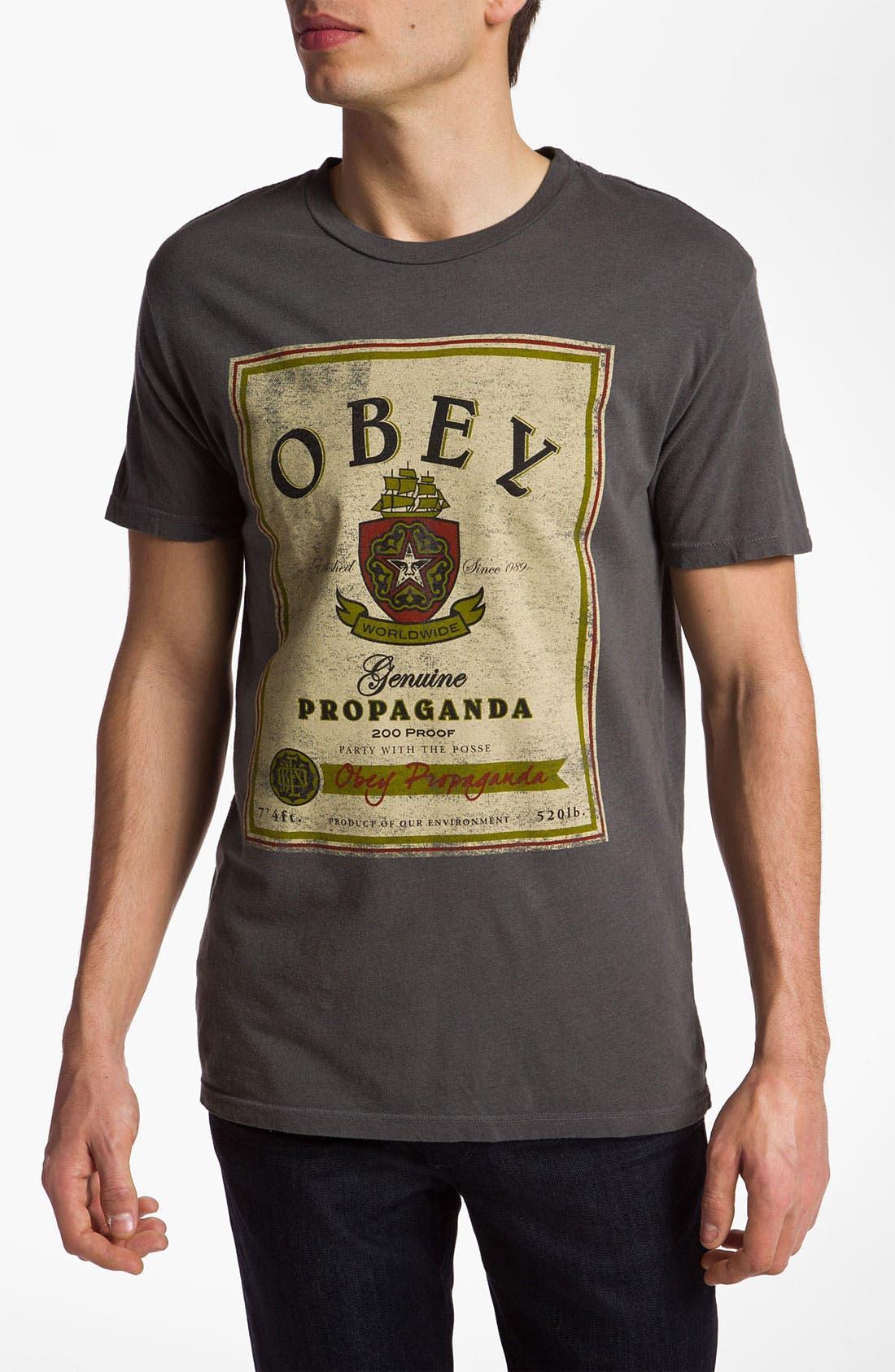 Alternate Image 1 Selected - Obey 'Whiskey Label' Graphic T-Shirt