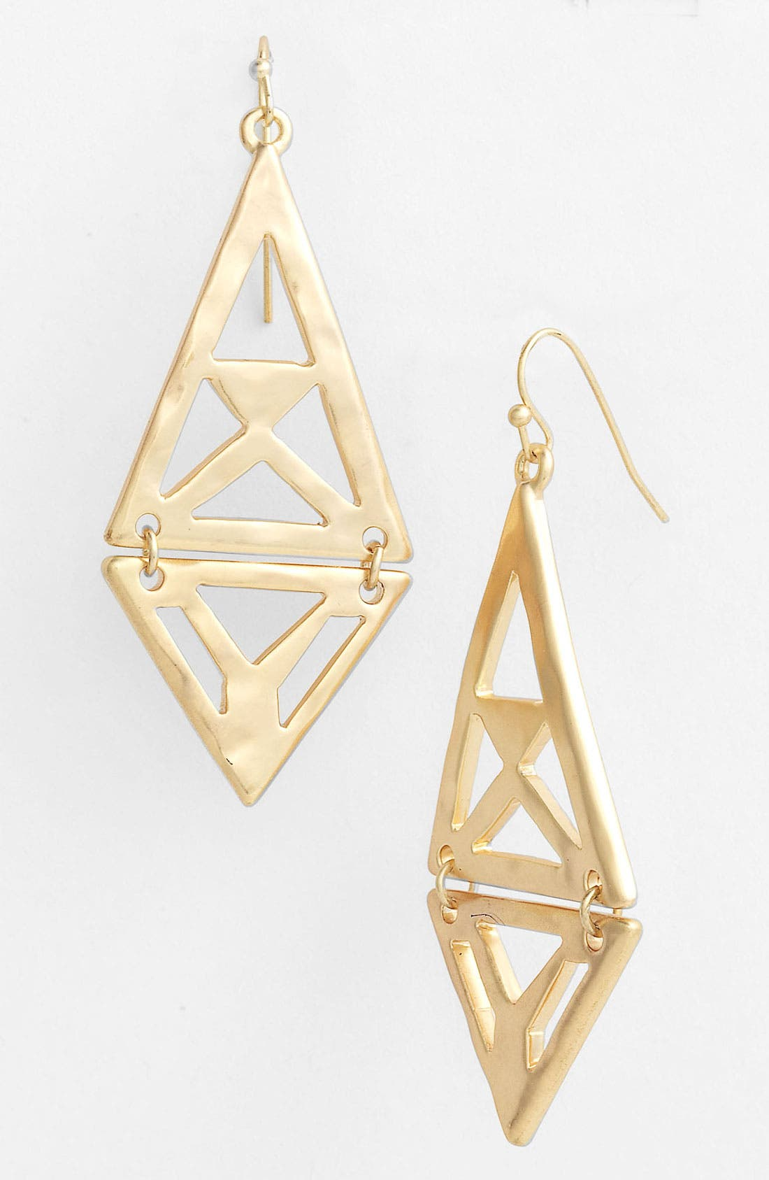 Alternate Image 1 Selected - Nordstrom Tribal Cutout Kite Earrings