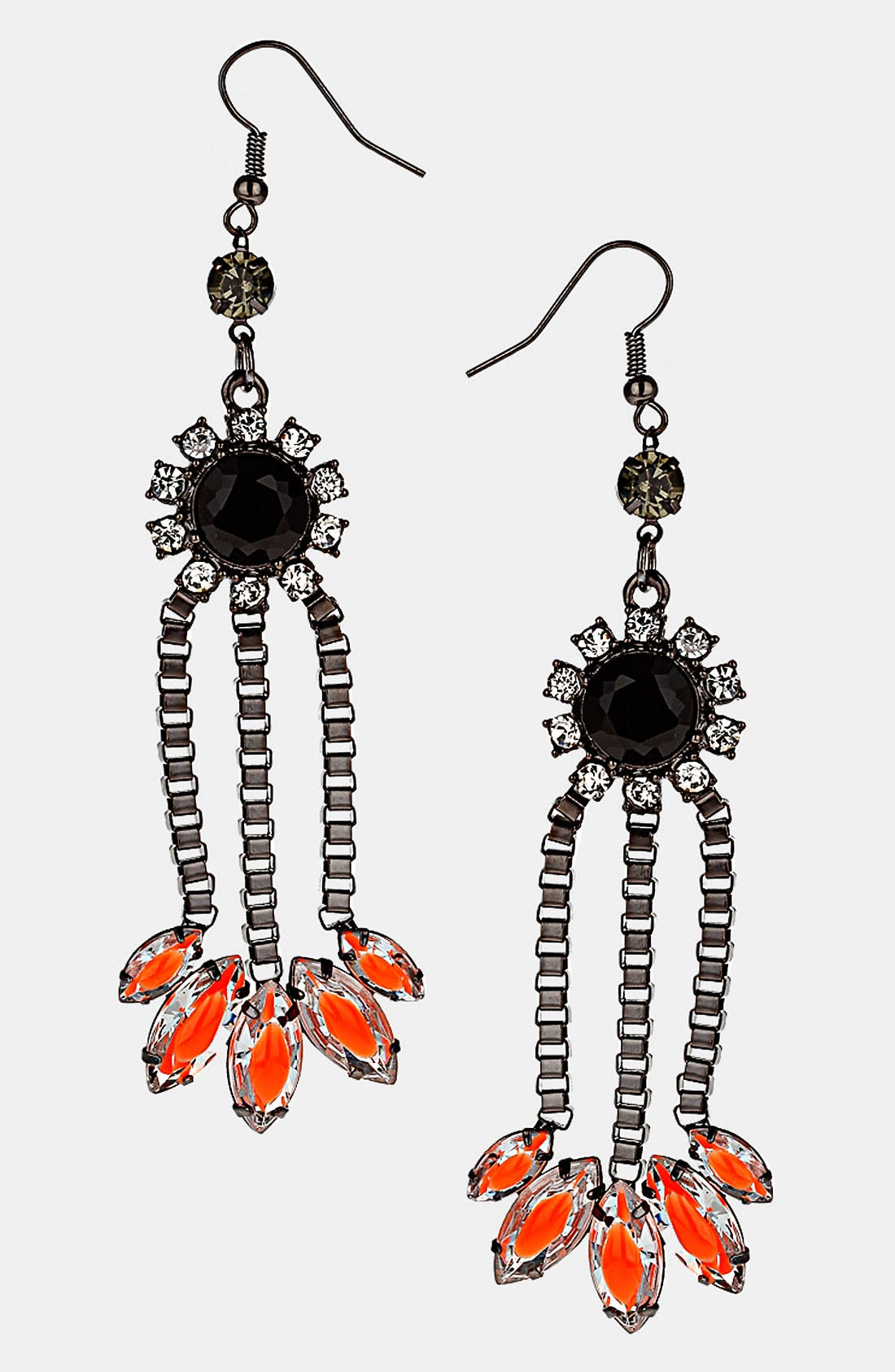 Alternate Image 1 Selected - Topshop Neon Flower Earrings